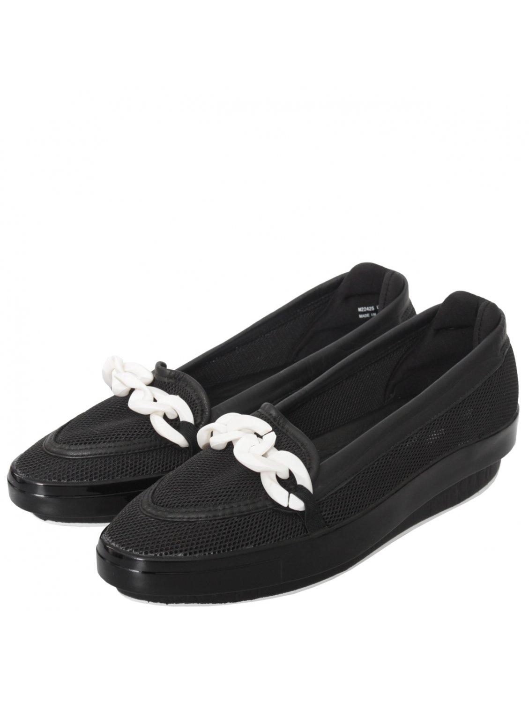 y 3 platform slip on shoes black in black lyst