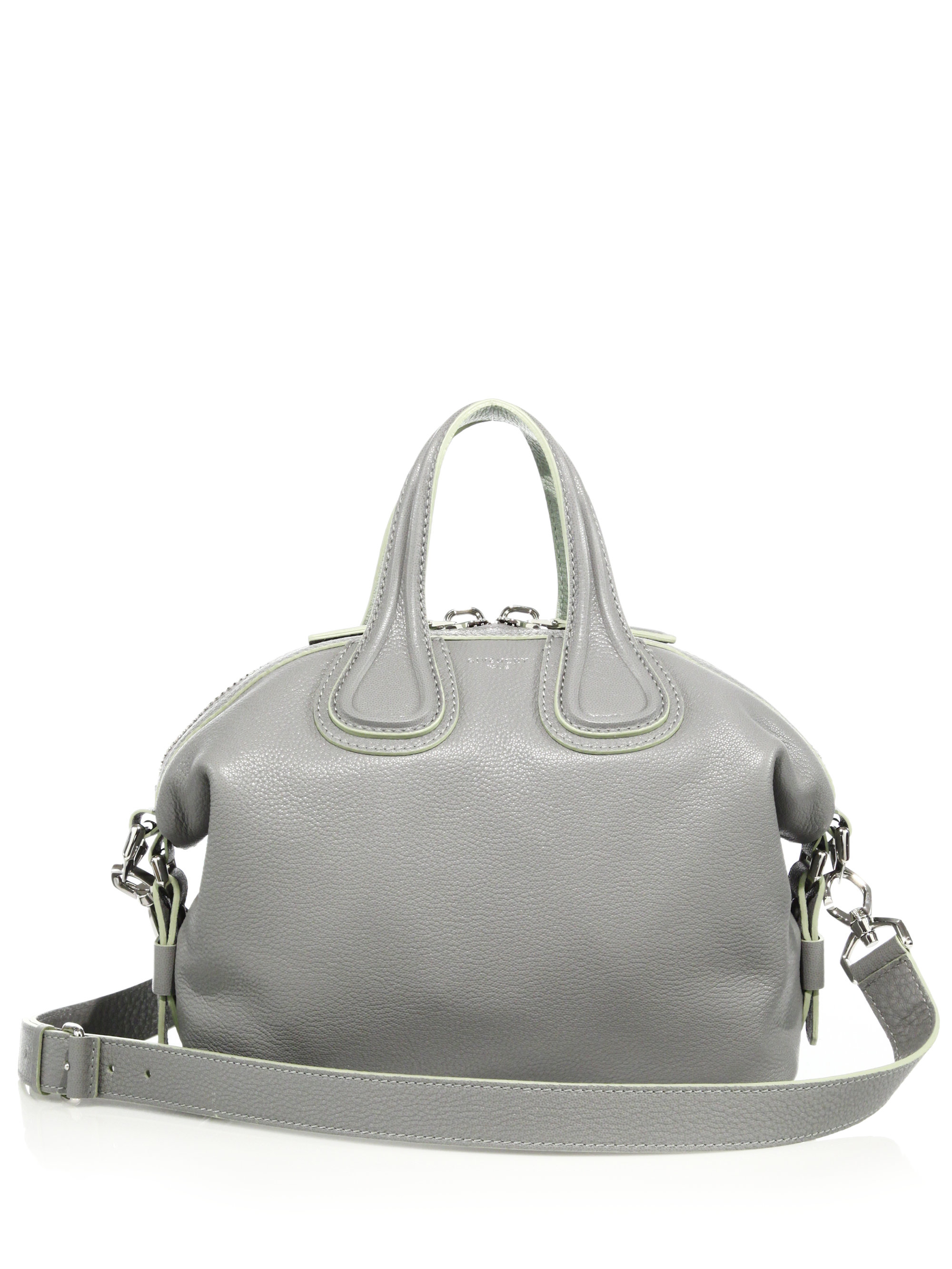1bdd75062df3 Givenchy Nightingale Small Leather Satchel in Gray (pearl grey)