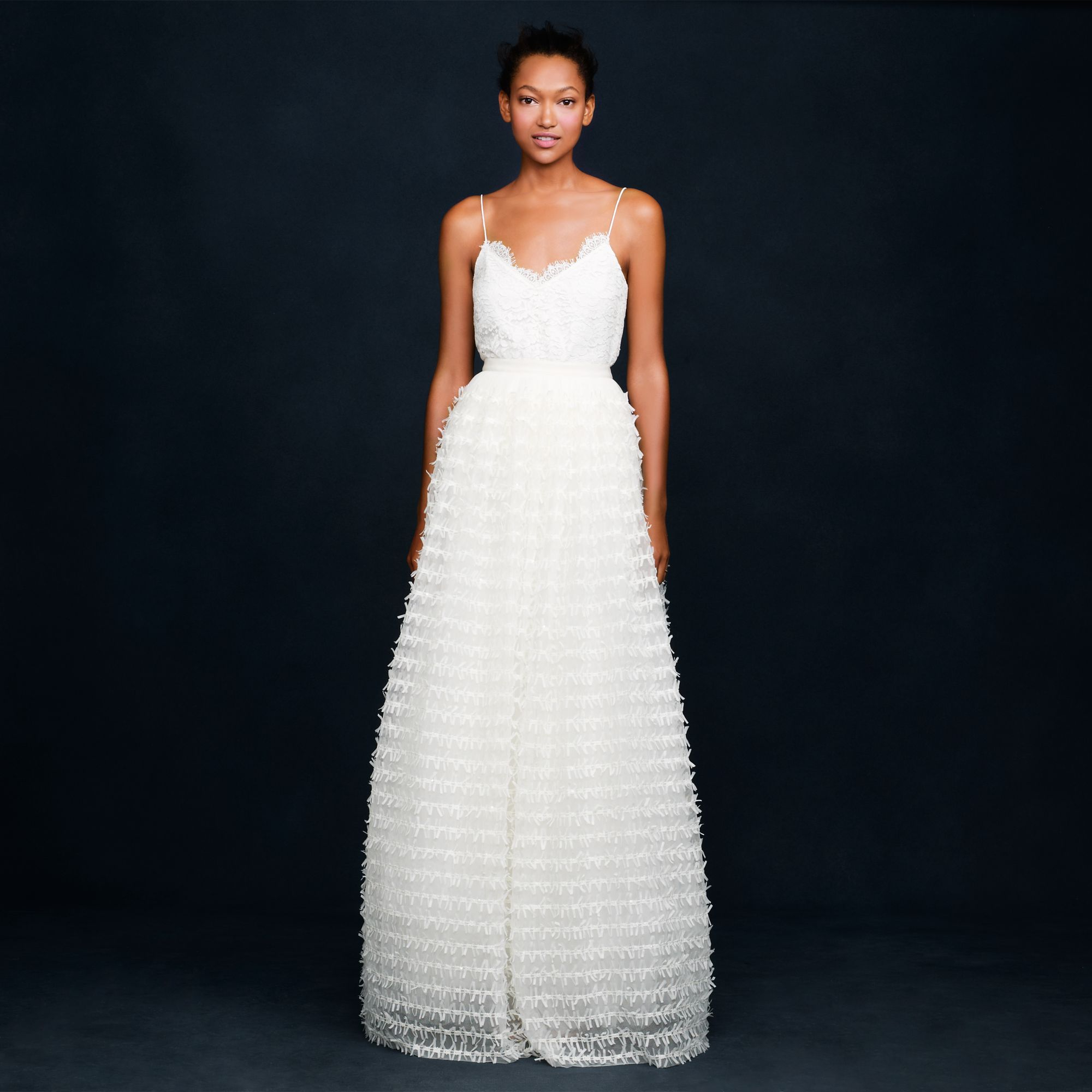 Lyst - J.Crew Collection Ribbon Tulle Ballgown Skirt in White