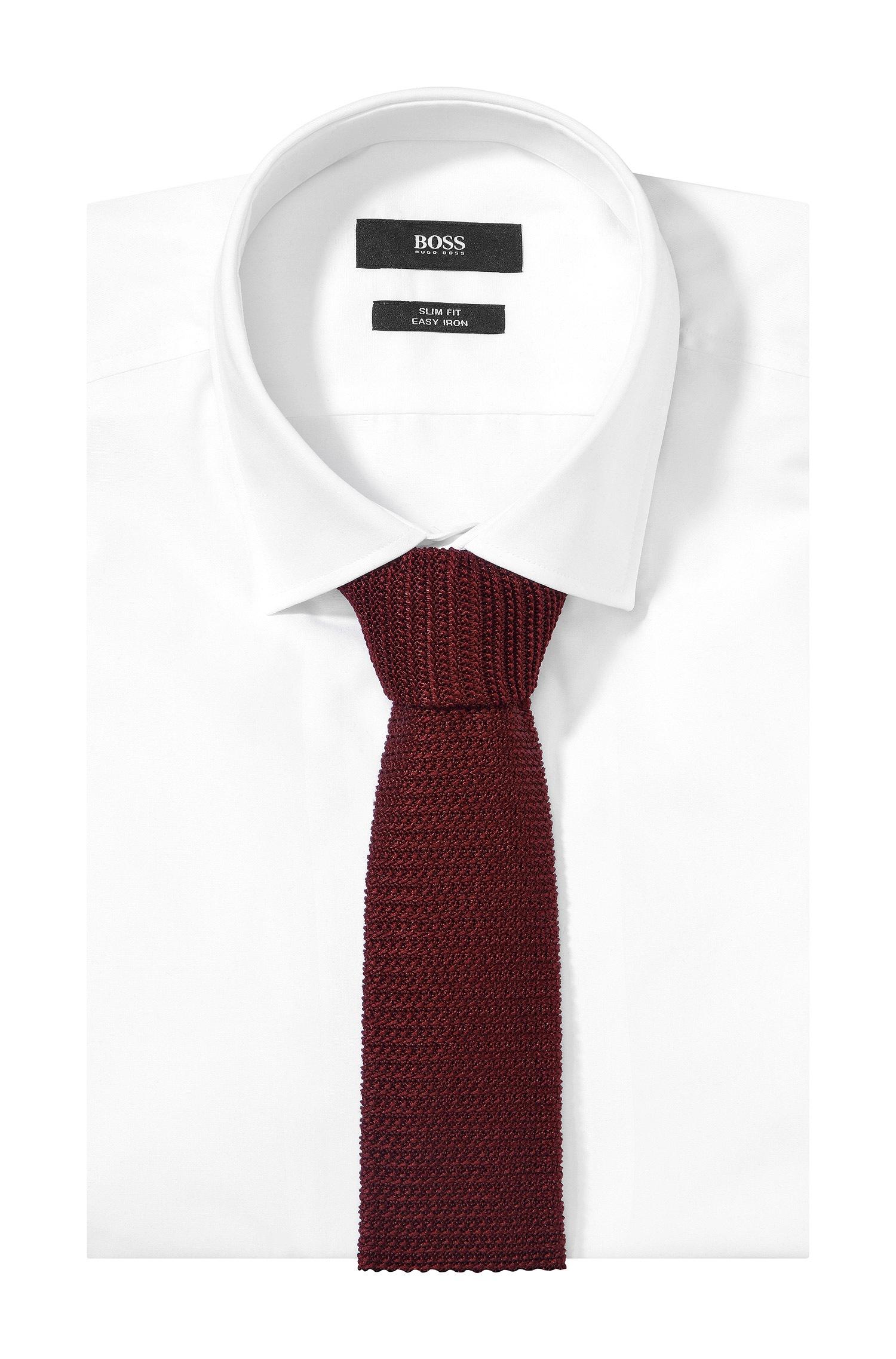 5fe835283506 BOSS Knit Tie 't-tie 6 Cm Knitted' In Silk in Red for Men - Lyst