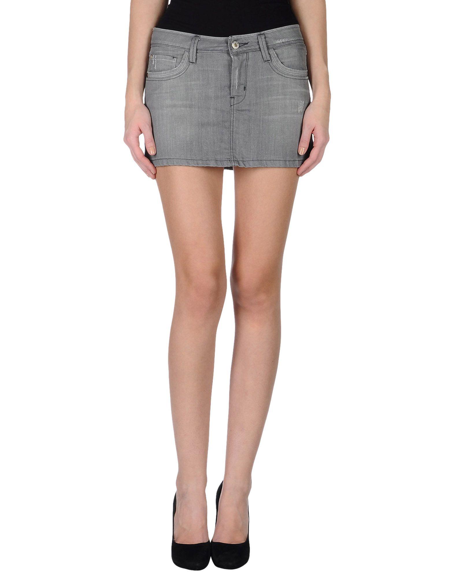 Gray Denim Skirt 3
