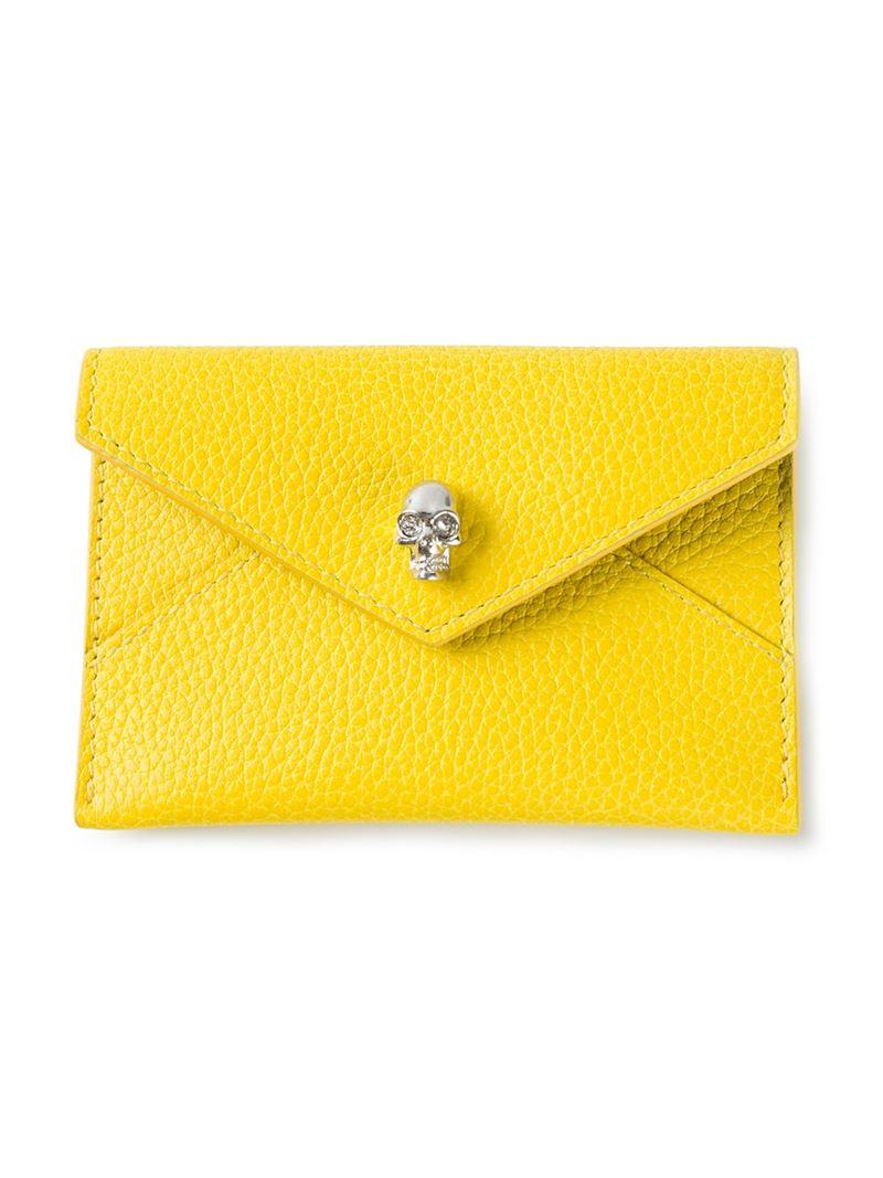 skull cardholder - Yellow & Orange Alexander McQueen u9LgOtsYa