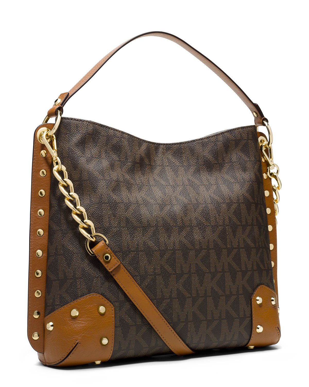Michael Kors Michael Medium Serena Shoulder Bag in Brown ...