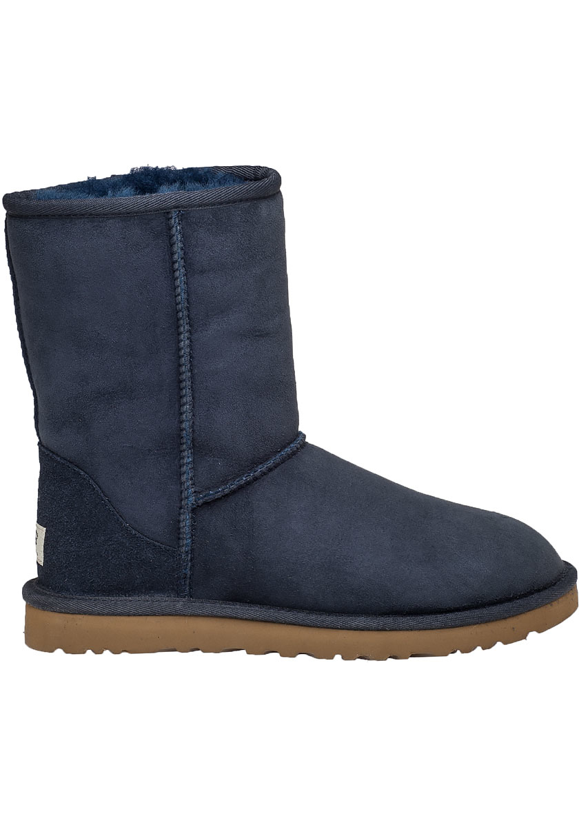 62827f7aae4 UGG Classic Short Boot Navy Suede in Blue - Lyst