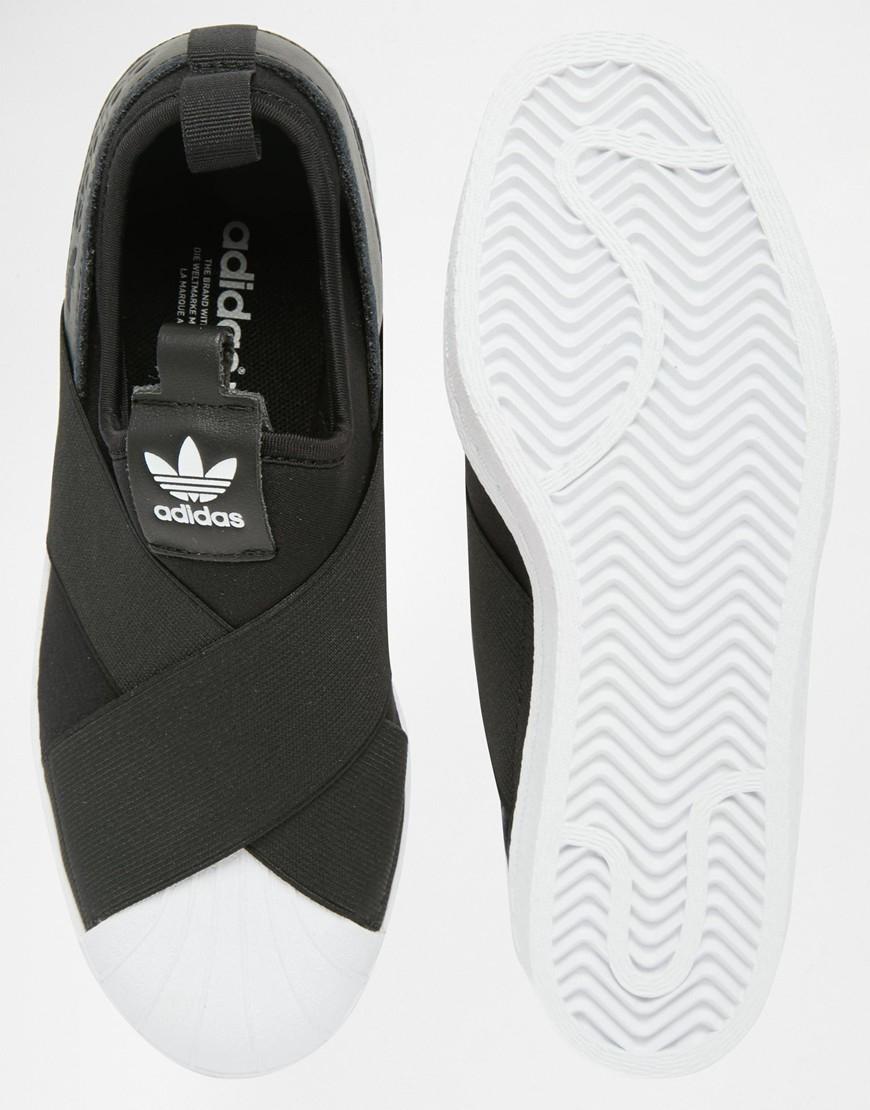 Adidas Originals Khaki Superstar Slip On Trainers