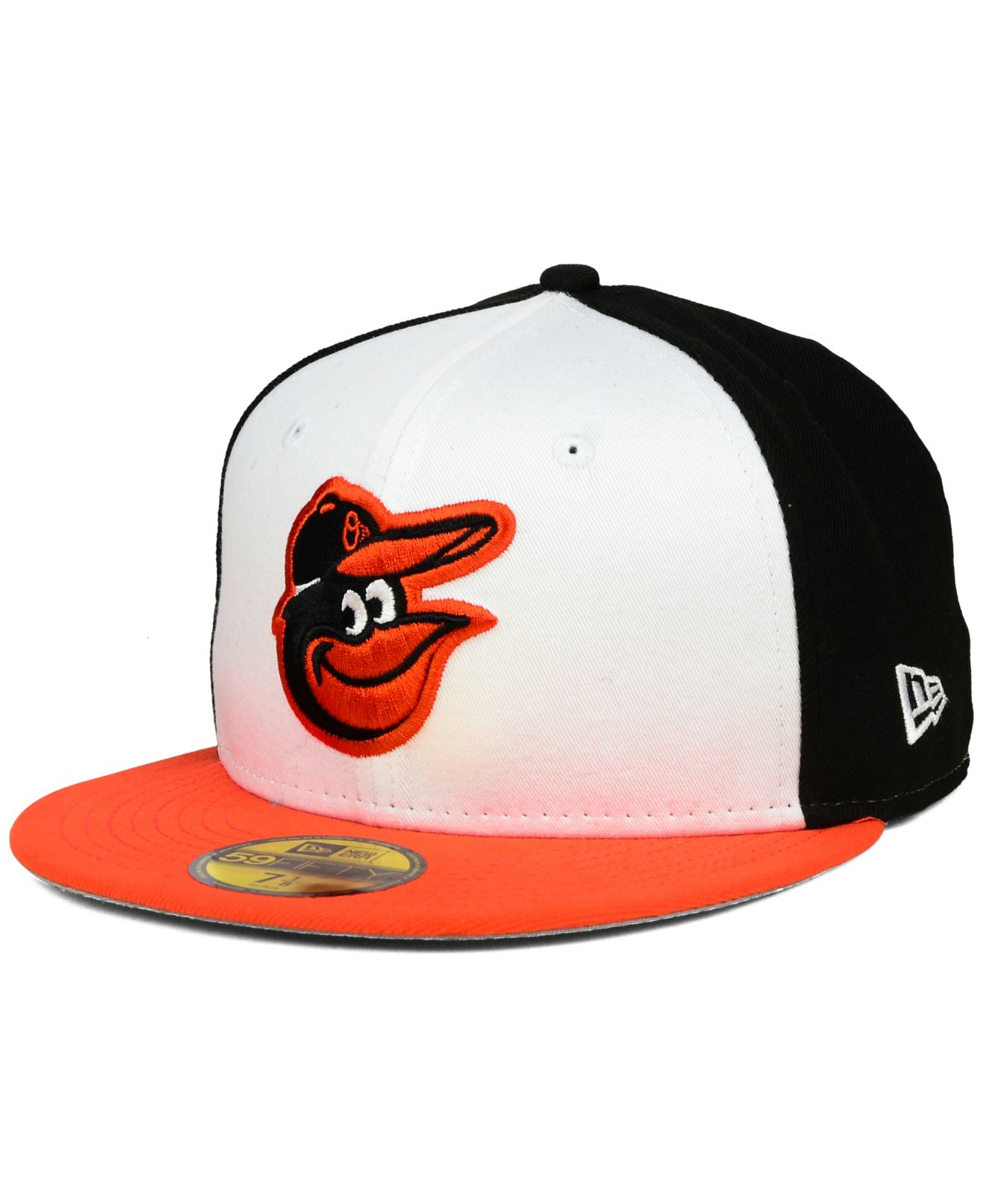 official photos 187e9 3a710 ... france lyst ktz baltimore orioles anniversary patch 59fifty cap in  white 37464 77558