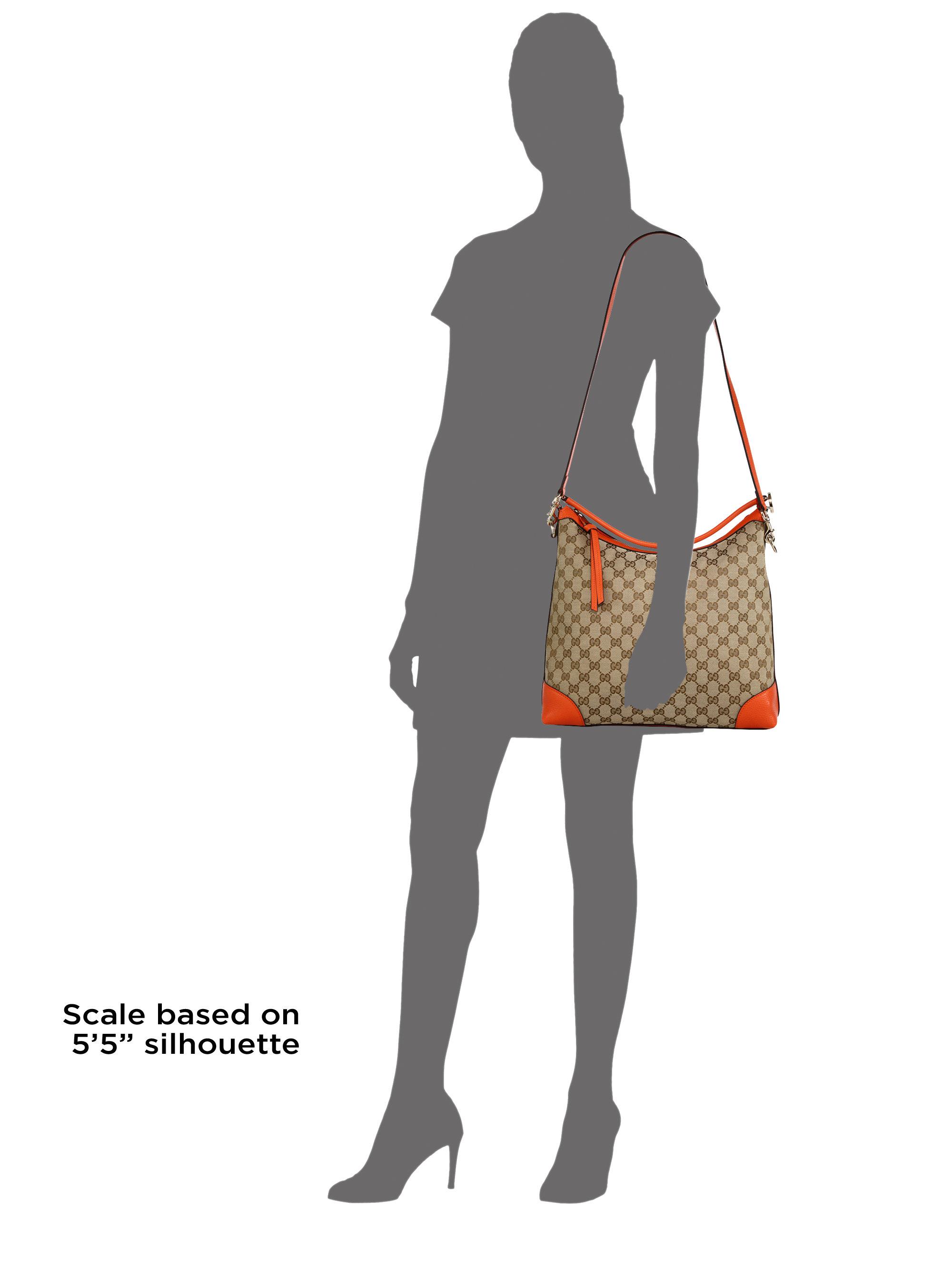 Gucci Miss Gg Small Original Gg Canvas Hobo Bag in Orange   Lyst