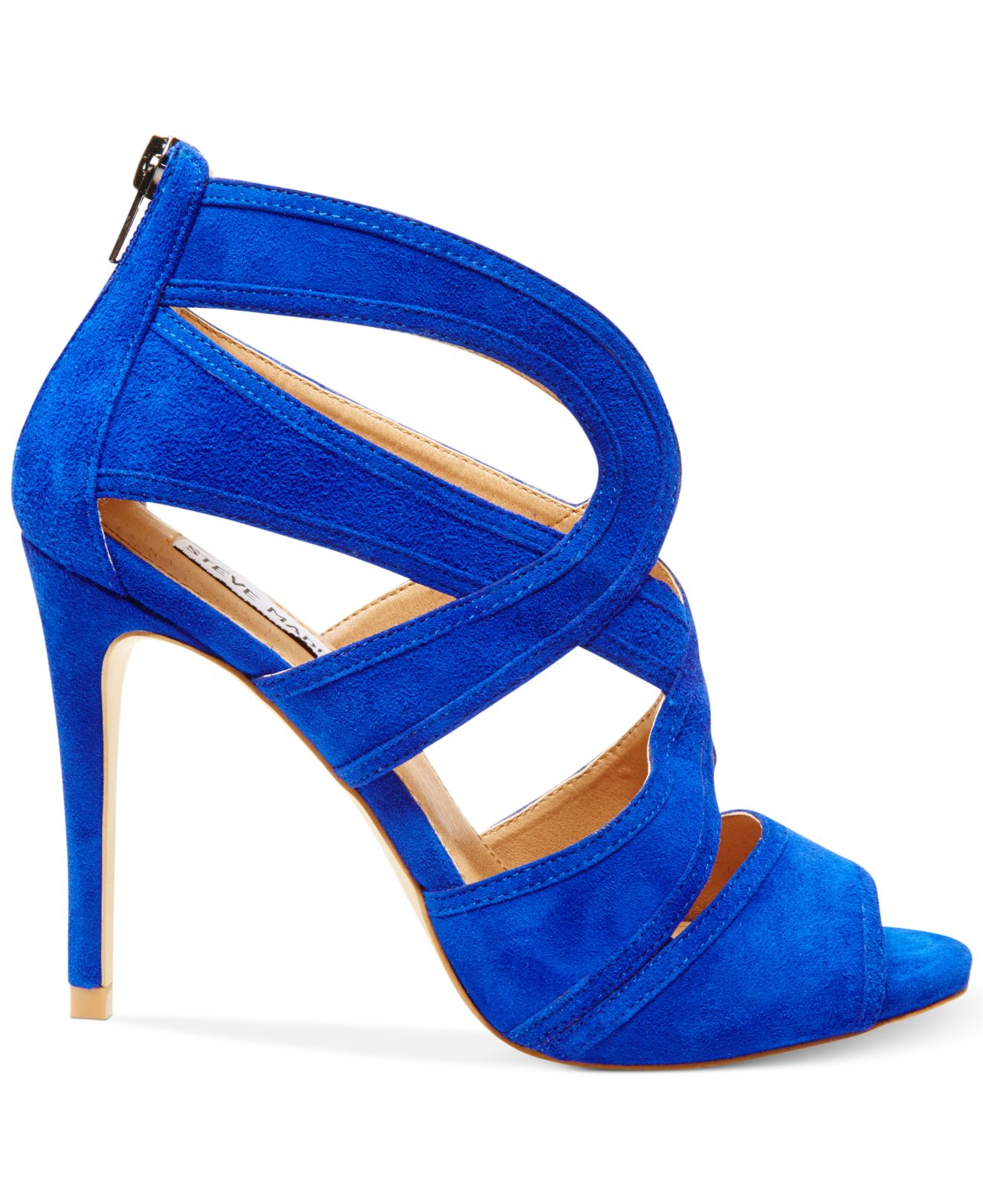 11fd9dcad69 Lyst - Steve Madden Women S Immence Strappy Sandals in Blue