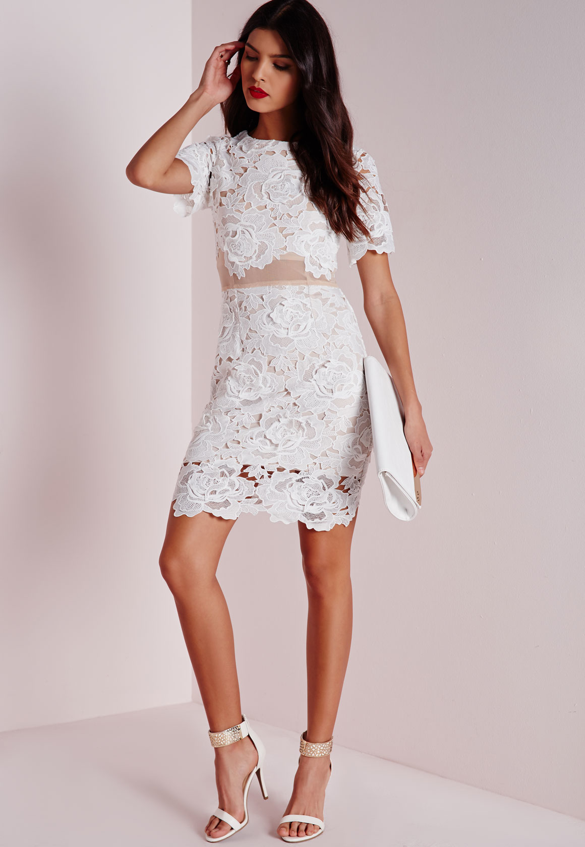Shoes With Cream Lace Dress