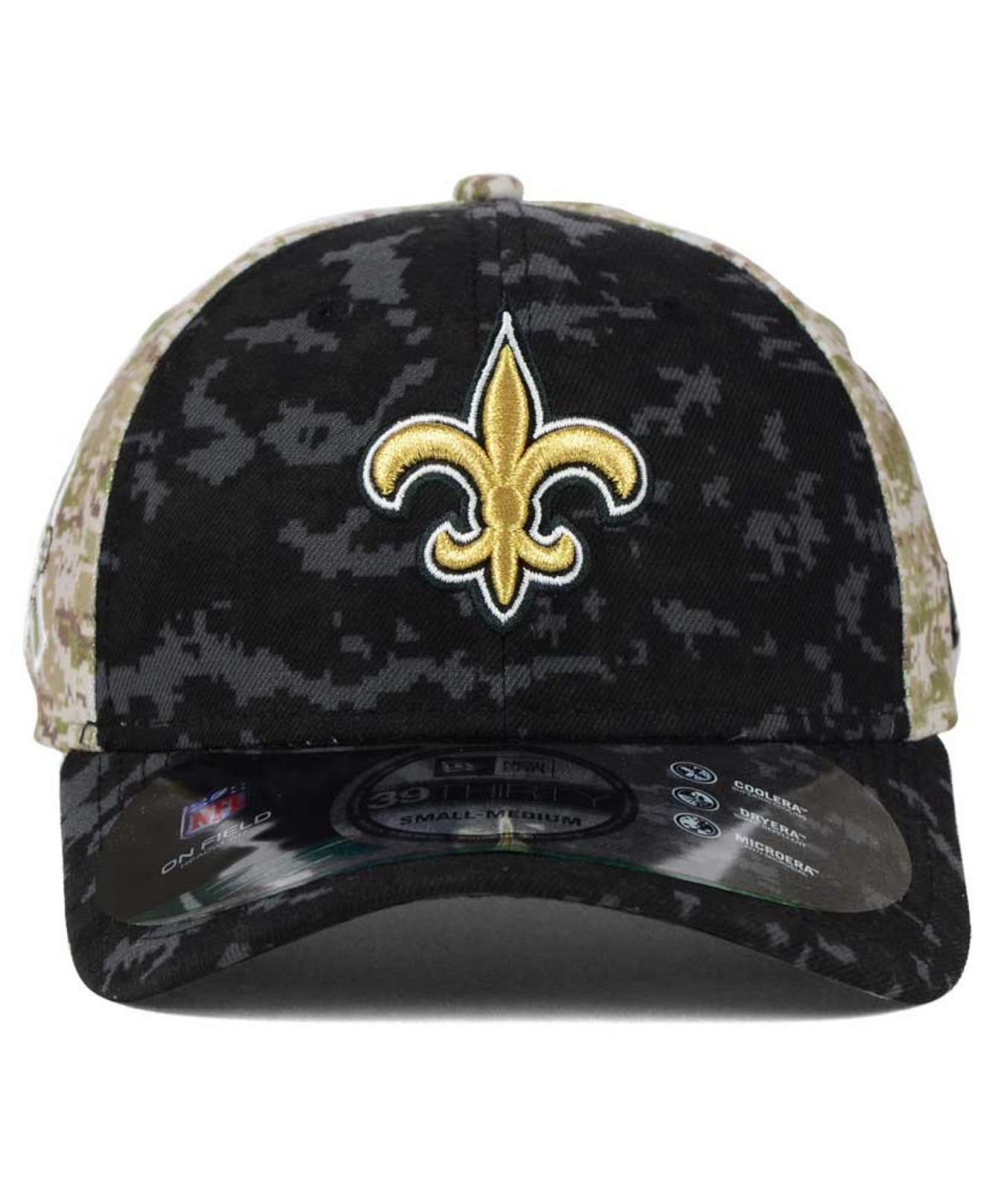 6362446bcff Lyst - KTZ New Orleans Saints Salute To Service 39thirty Cap in ...