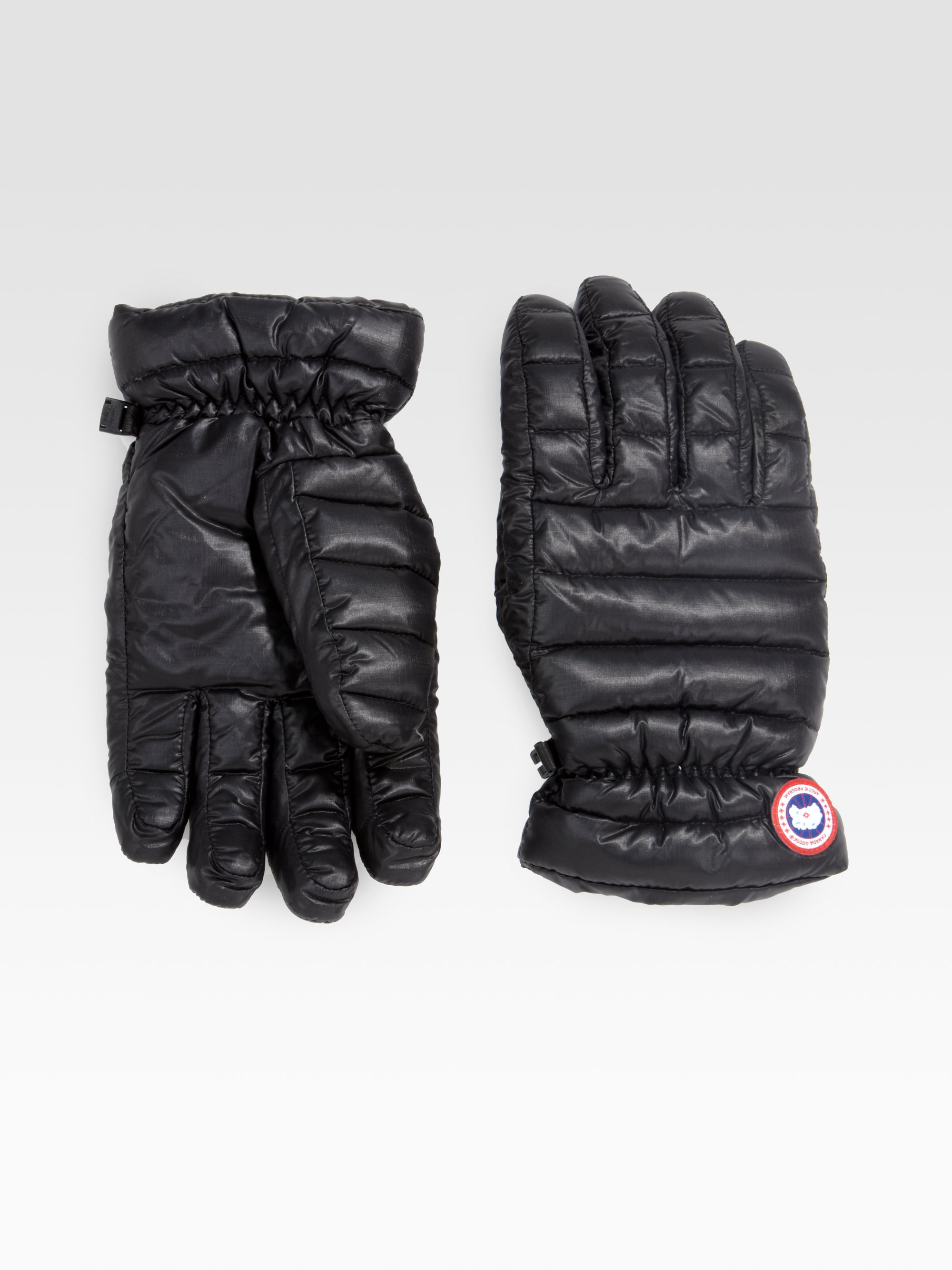 Canada Goose vest outlet official - Canada goose Lodge Gloves in Black for Men | Lyst
