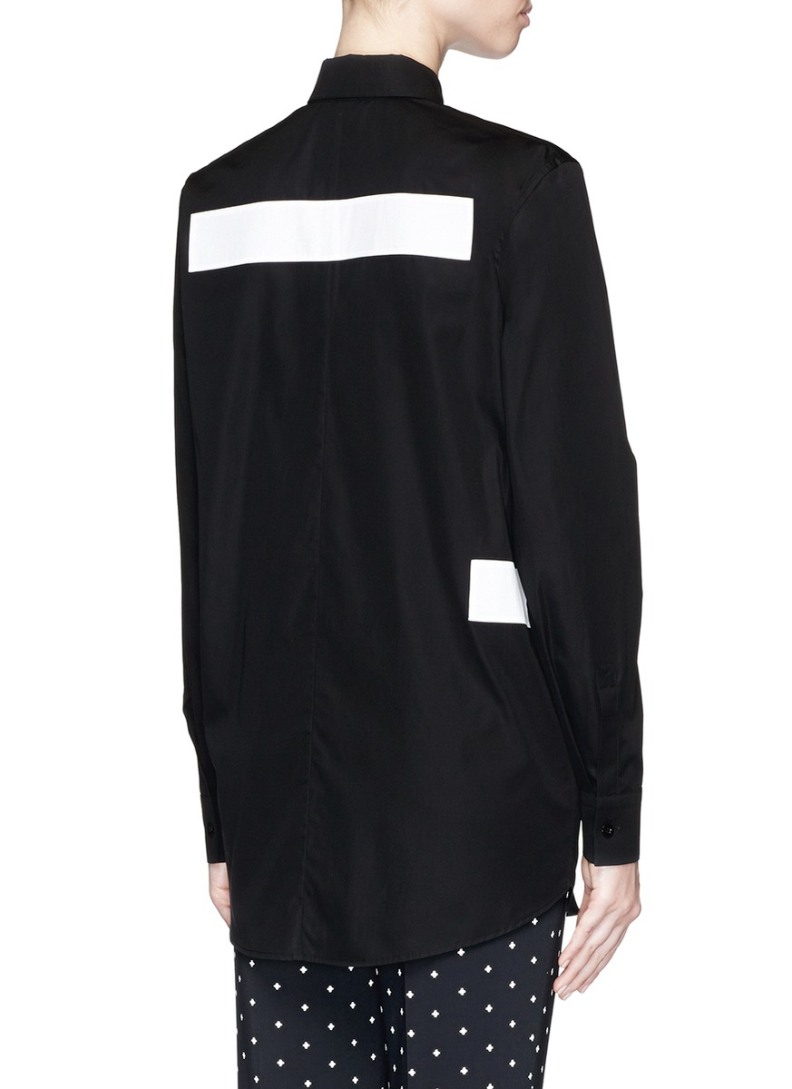 Lyst Givenchy Button Down Collar Cotton Poplin Shirt In