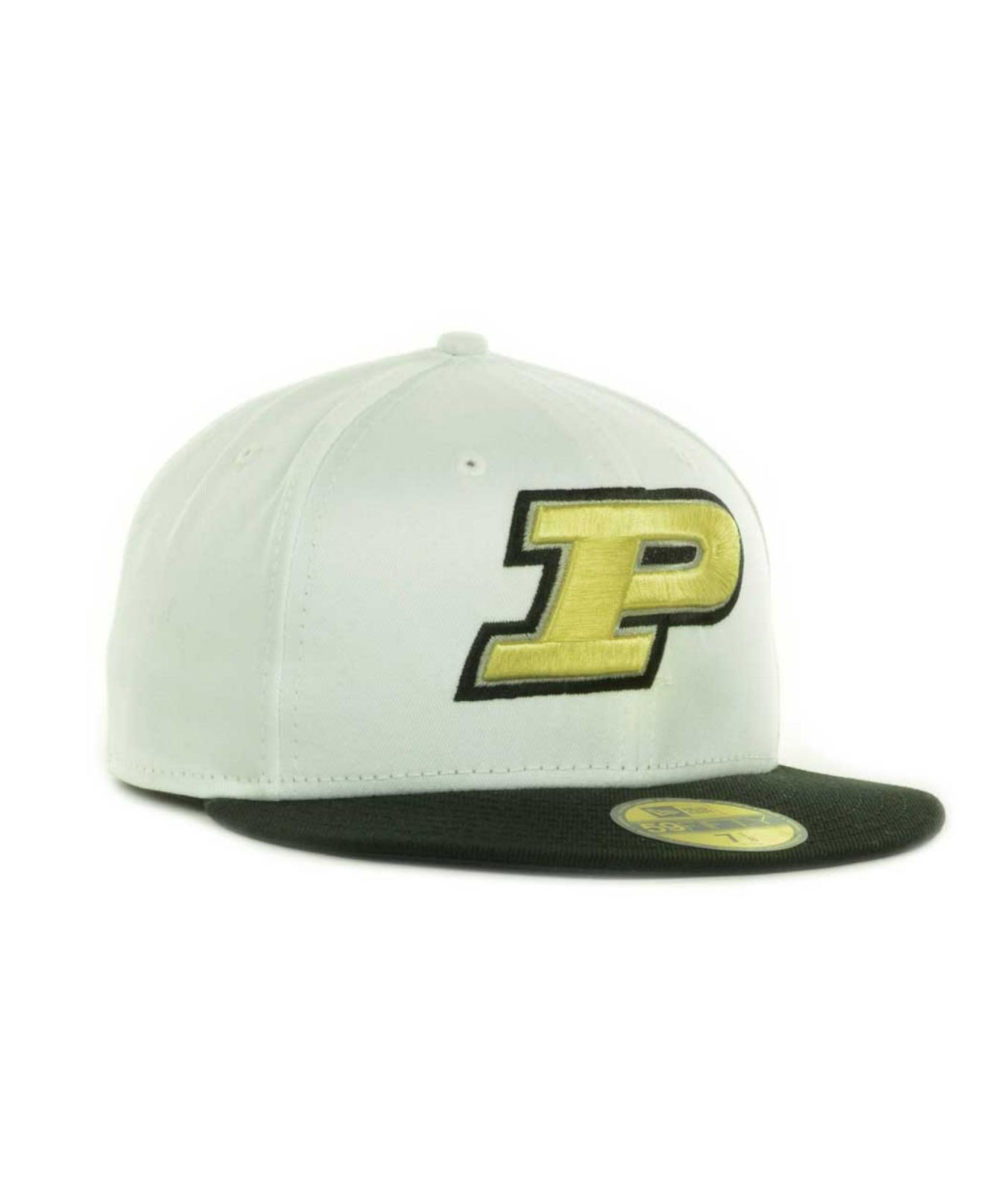 premium selection 2e222 eff44 KTZ Purdue Boilermakers Ncaa White 2 Tone 59Fifty Cap in Black for ...
