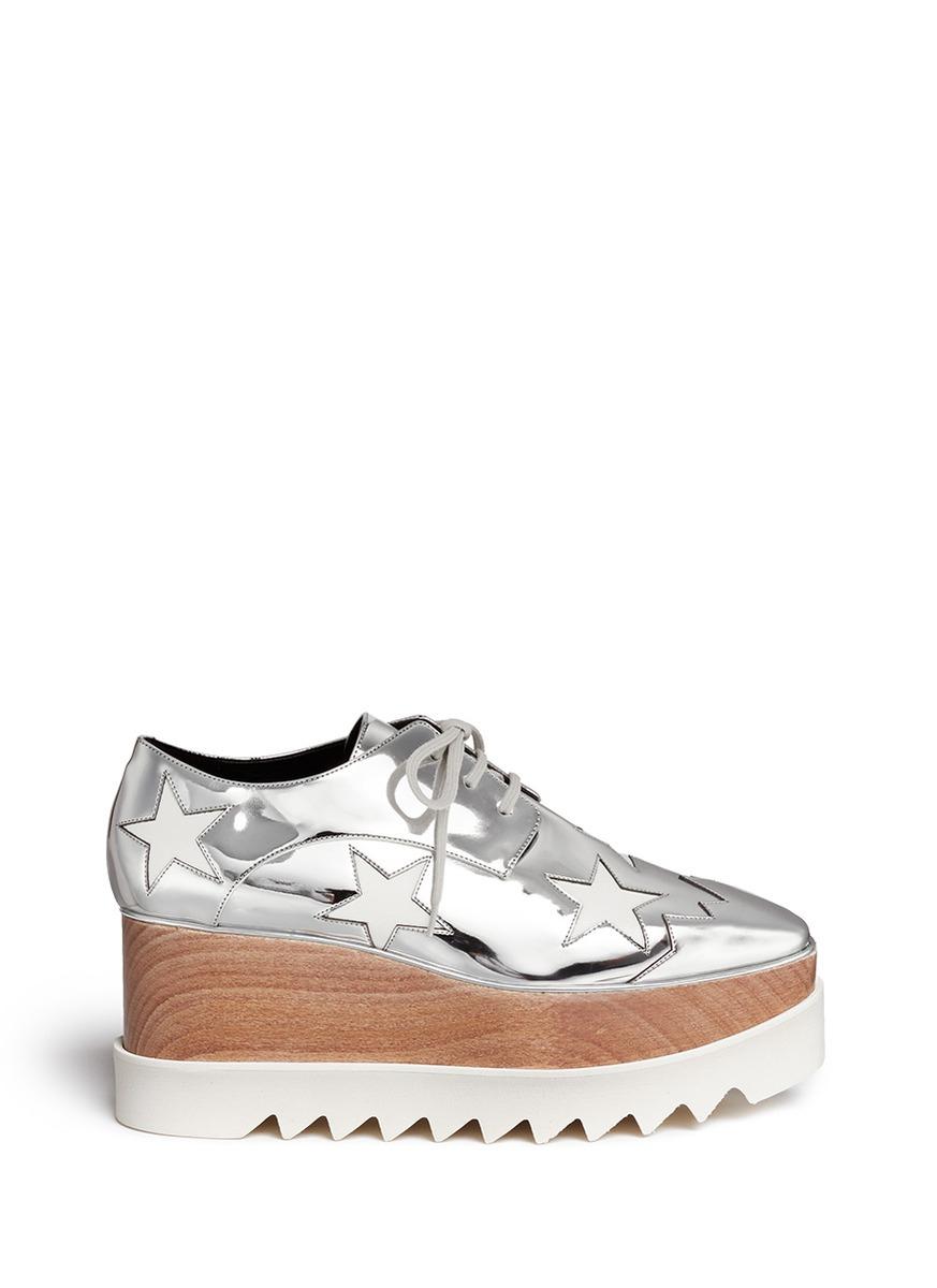 Stella McCartney Elyse Metallic Stars Platform Shoes zZ64iuAW