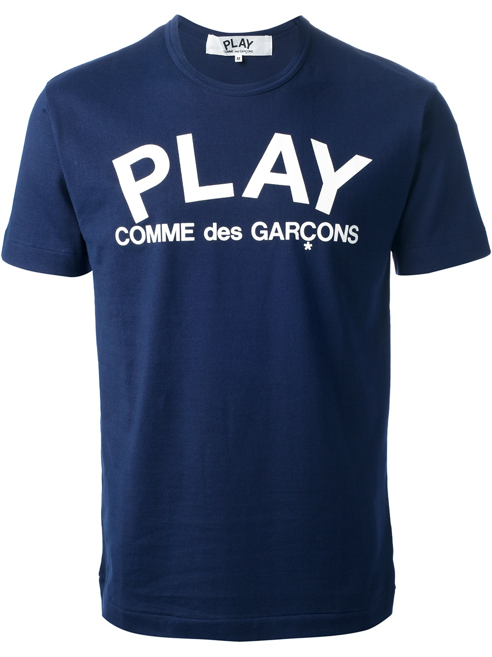 Play Comme Des Gar Ons Printed Logo T Shirt In Blue For