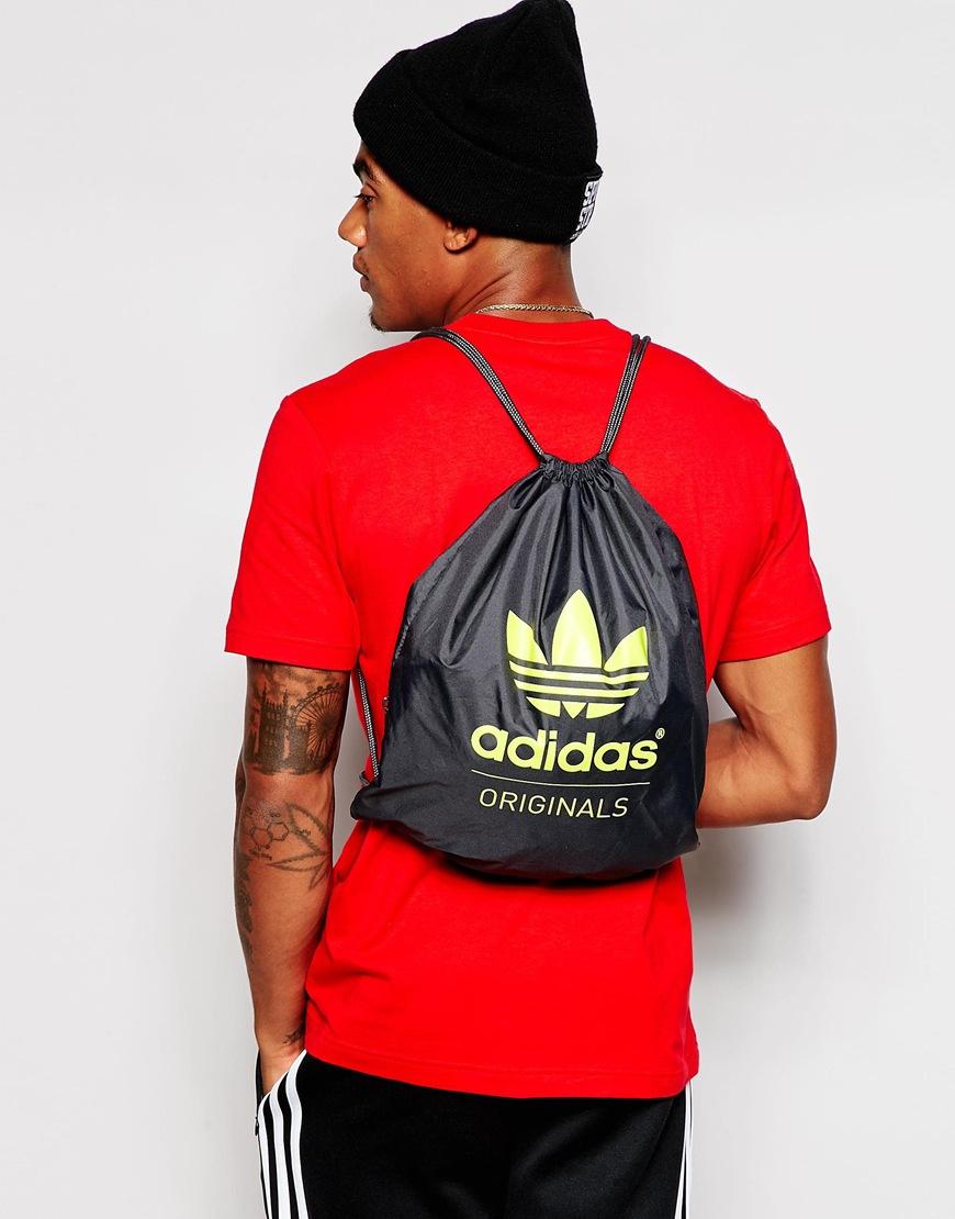 Adidas originals Drawstring Backpack in Gray for Men | Lyst