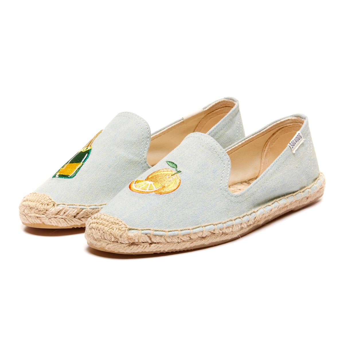 4caa1b4f990 Soludos Smoking Slipper Embroidery in Yellow - Lyst