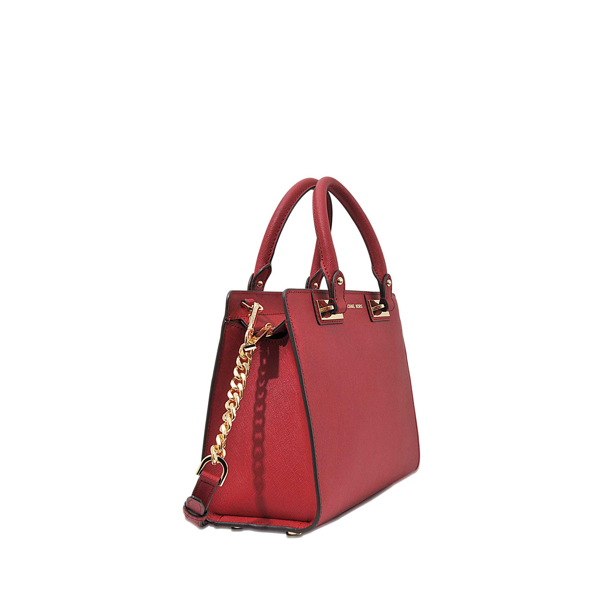 69f1c0c39acf2c ... spain sale 74401 e9719 lyst michael michael kors quinn medium satchel  in red 59628 34542