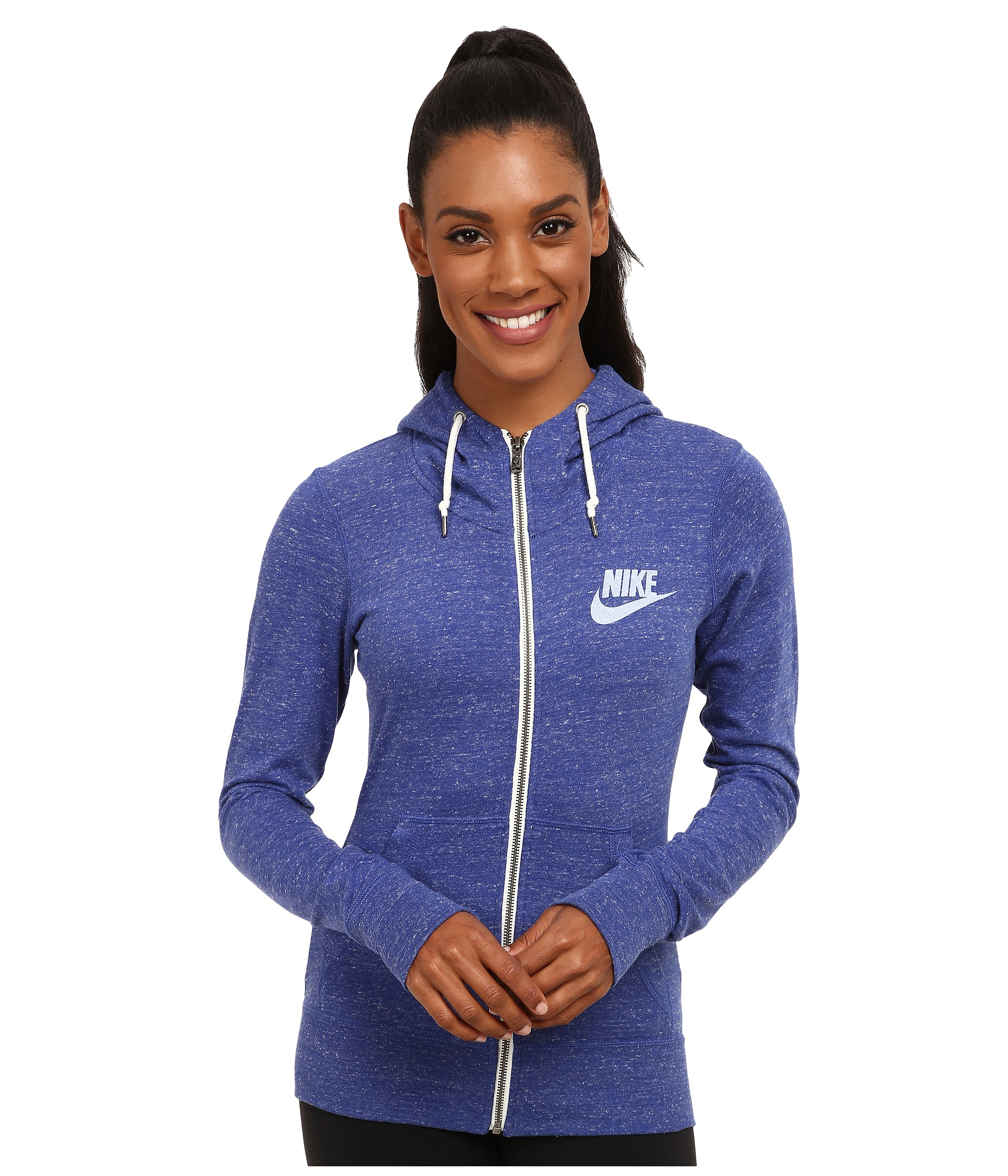 Nike Gym Vintage Full-zip Hoodie in Blue | Lyst