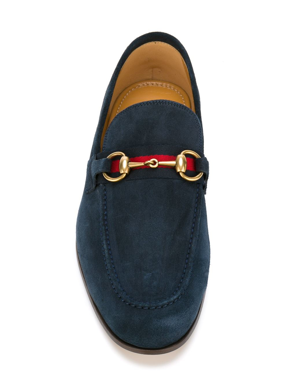 Gucci Suede Loafers In Blue For Men | Lyst