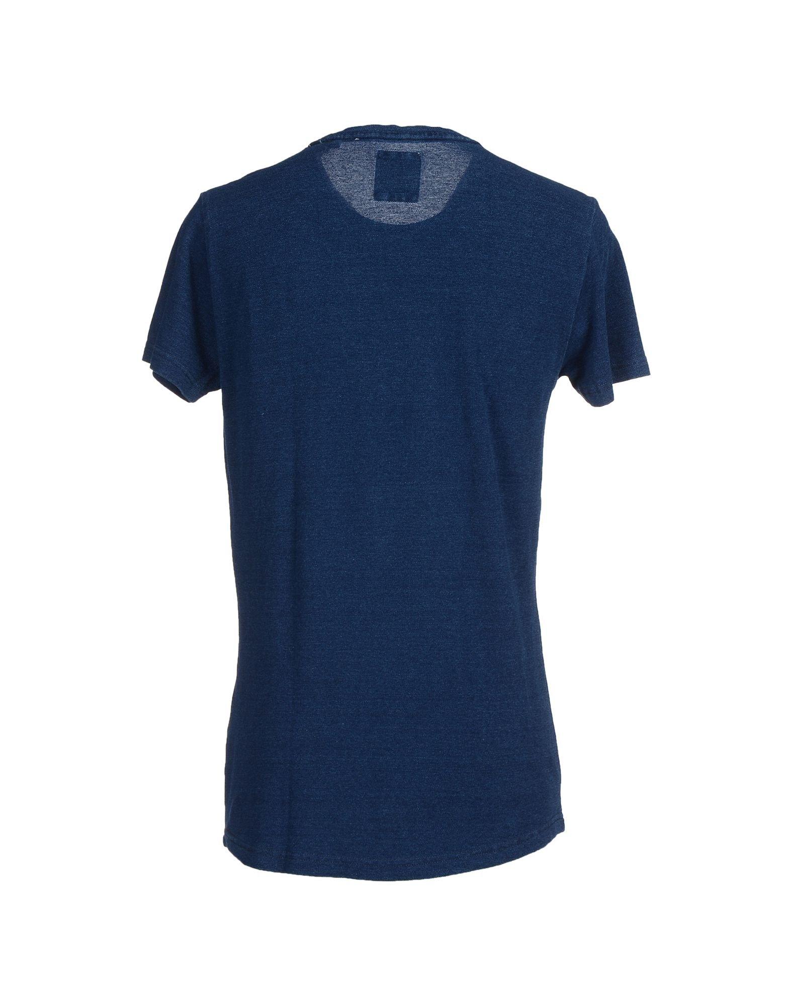 Anerkjendt t shirt in blue for men dark blue lyst for T shirt dark blue