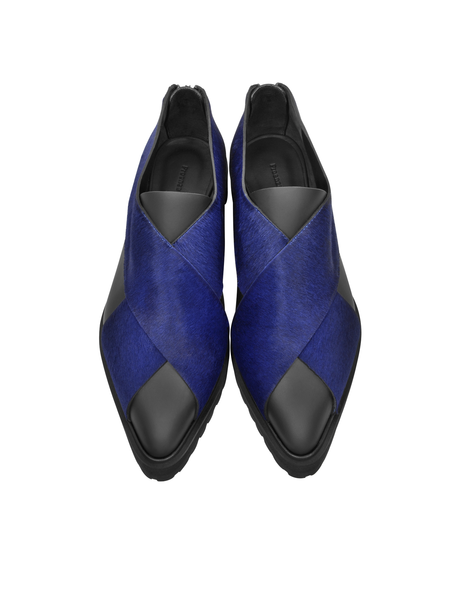 Blue Leather Fribge Shoe