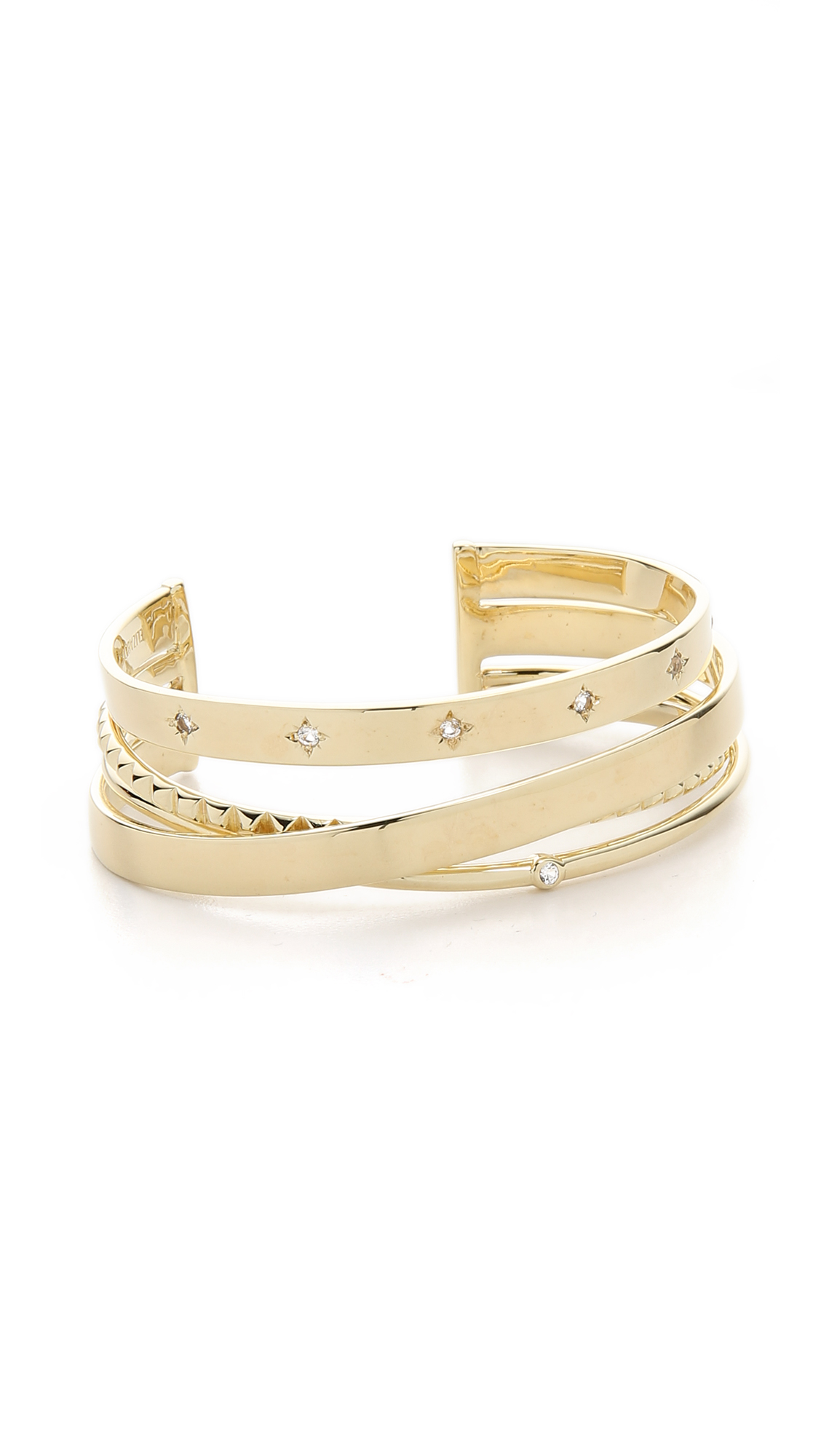Elizabeth And James Woman Gold-tone Stone Cuff Gold Size Elizabeth & James