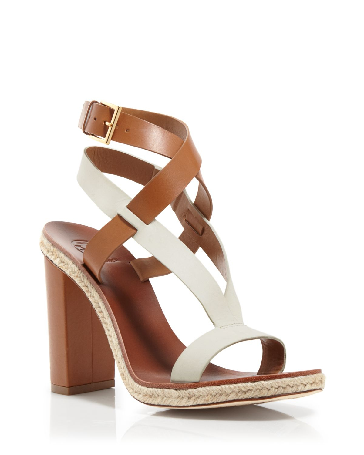 Tory Burch Two Tone Strappy Sandals Marbella High Heel
