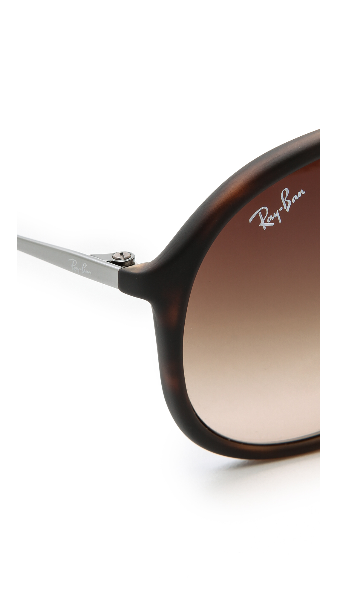 4325f73db9 Ray-Ban Youngster Rubber Aviator Sunglasses in Brown - Lyst