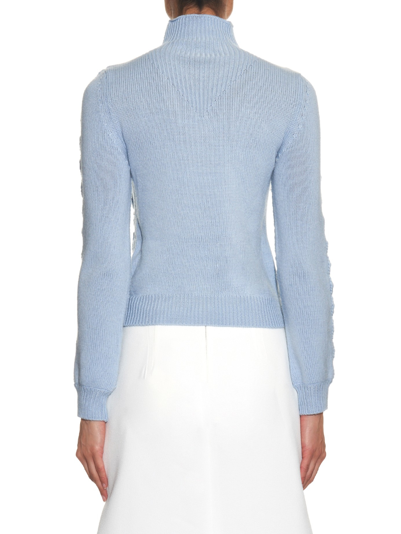 Altuzarra Harper Chunky-knit Wool Sweater in Blue | Lyst
