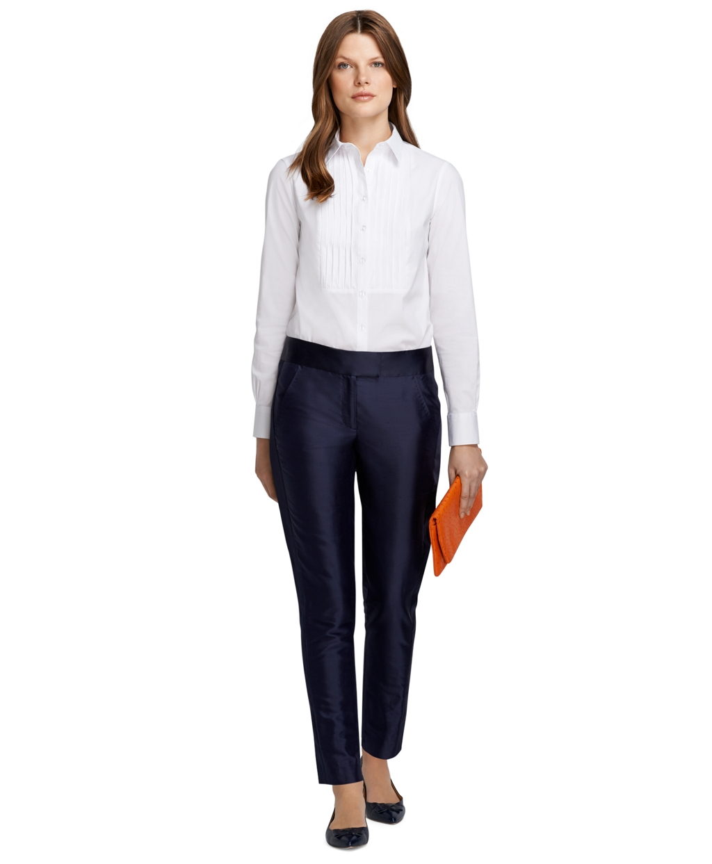 Lyst Brooks Brothers Organza Side Stripe Pants In Blue