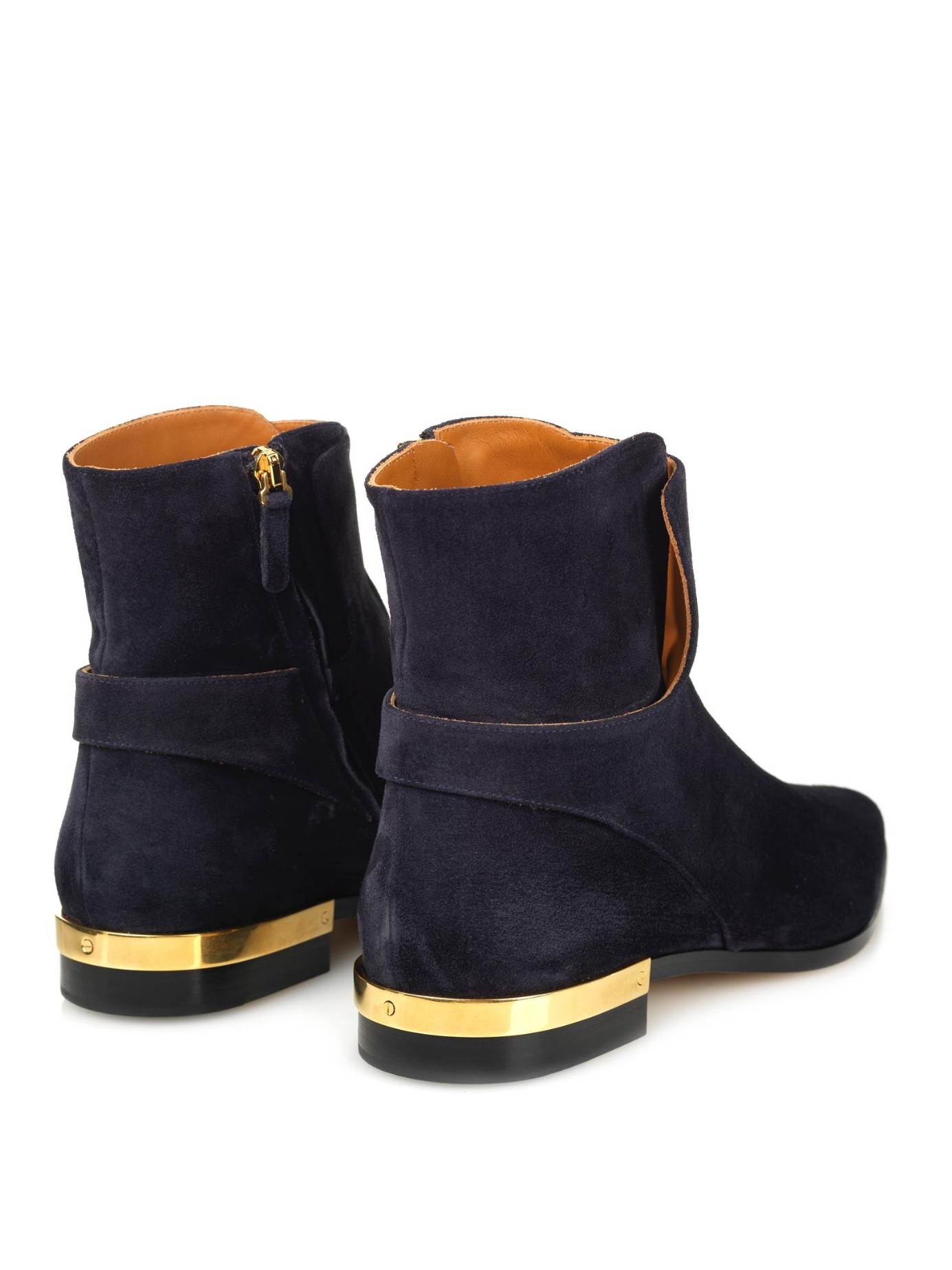 lyst chlo drew suede ankle boots in blue. Black Bedroom Furniture Sets. Home Design Ideas