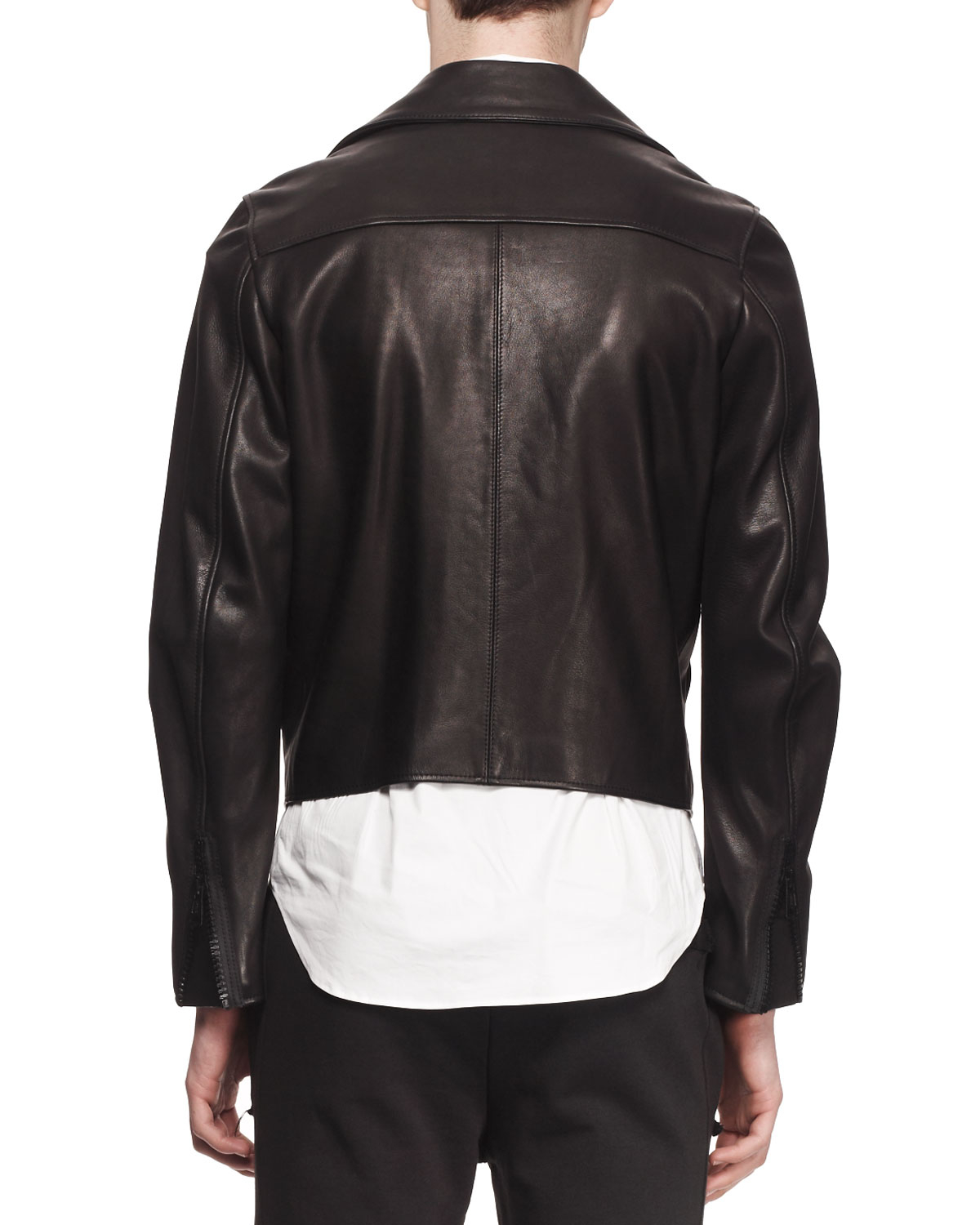 Acne studios Gibson Clean Leather Moto Jacket in Black for ...