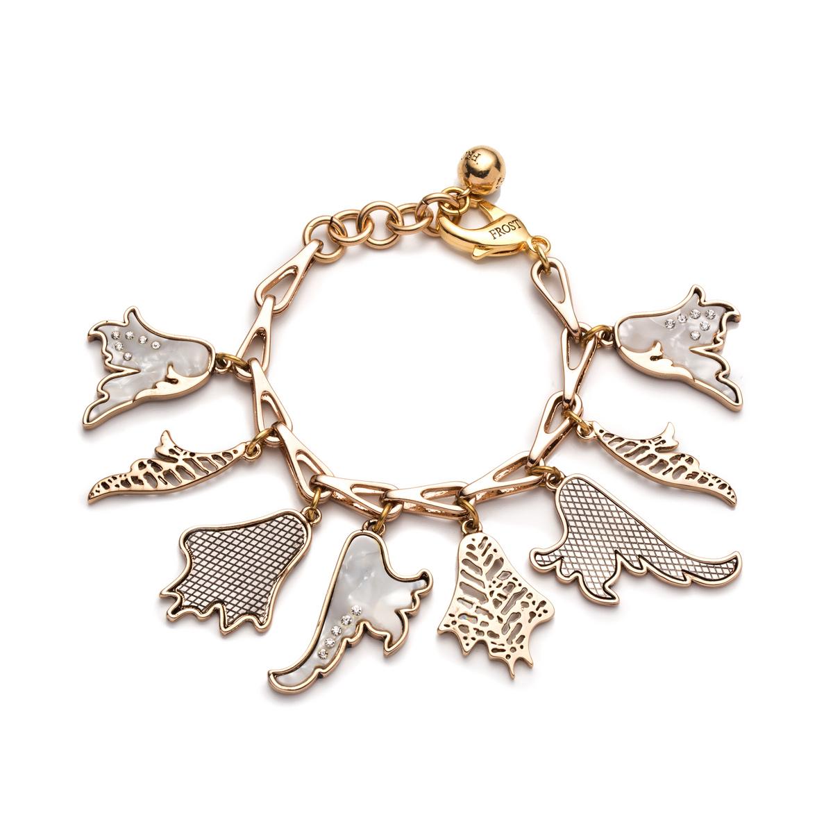 lulu delirium charm bracelet in metallic lyst