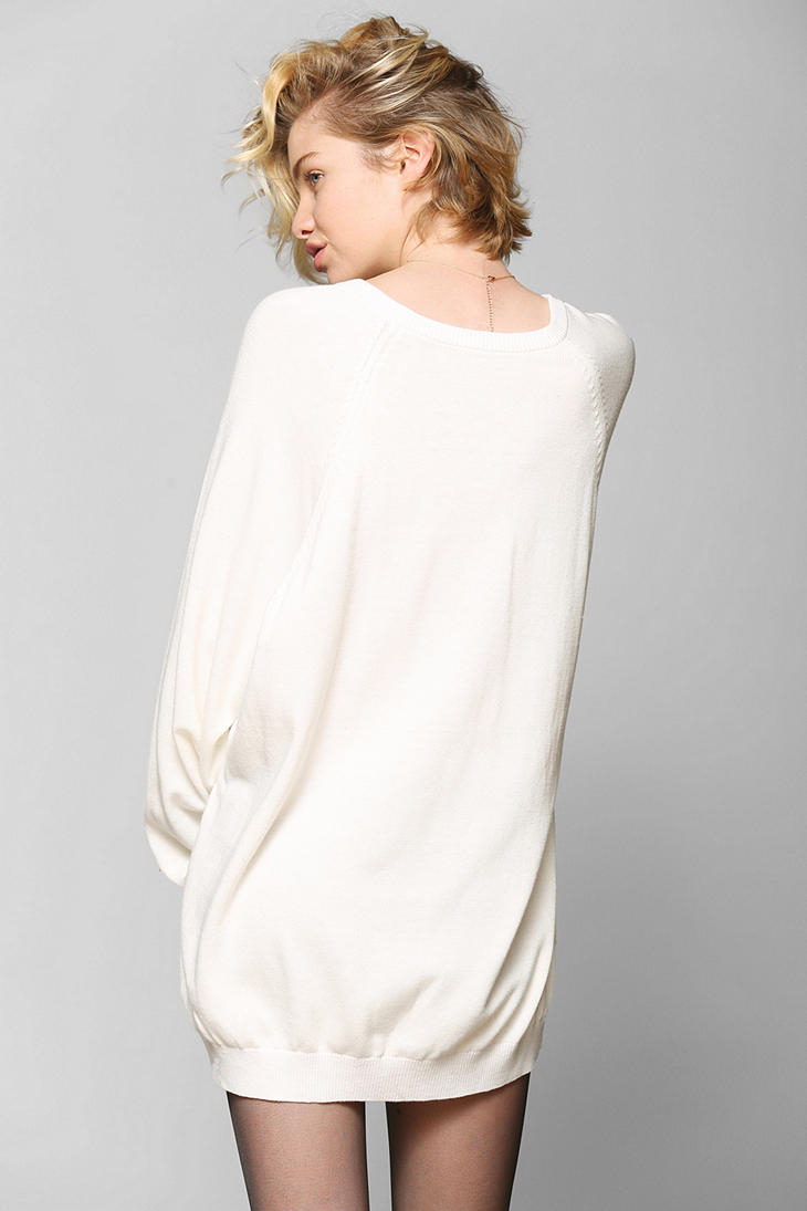 Silence   noise Silence Noise Tunic Sweater in White | Lyst