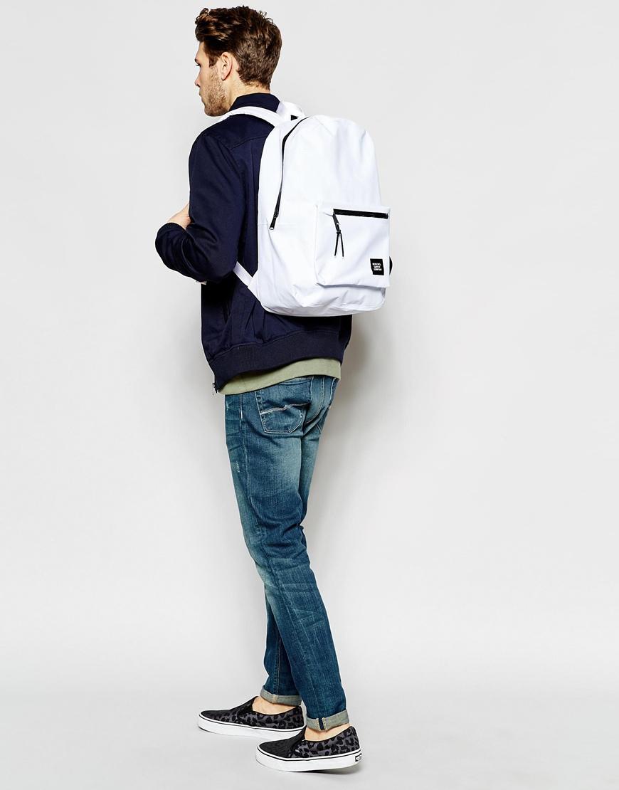 1e884e46615a Lyst - Herschel Supply Co. 21L Settlement Studio Backpack in White for Men