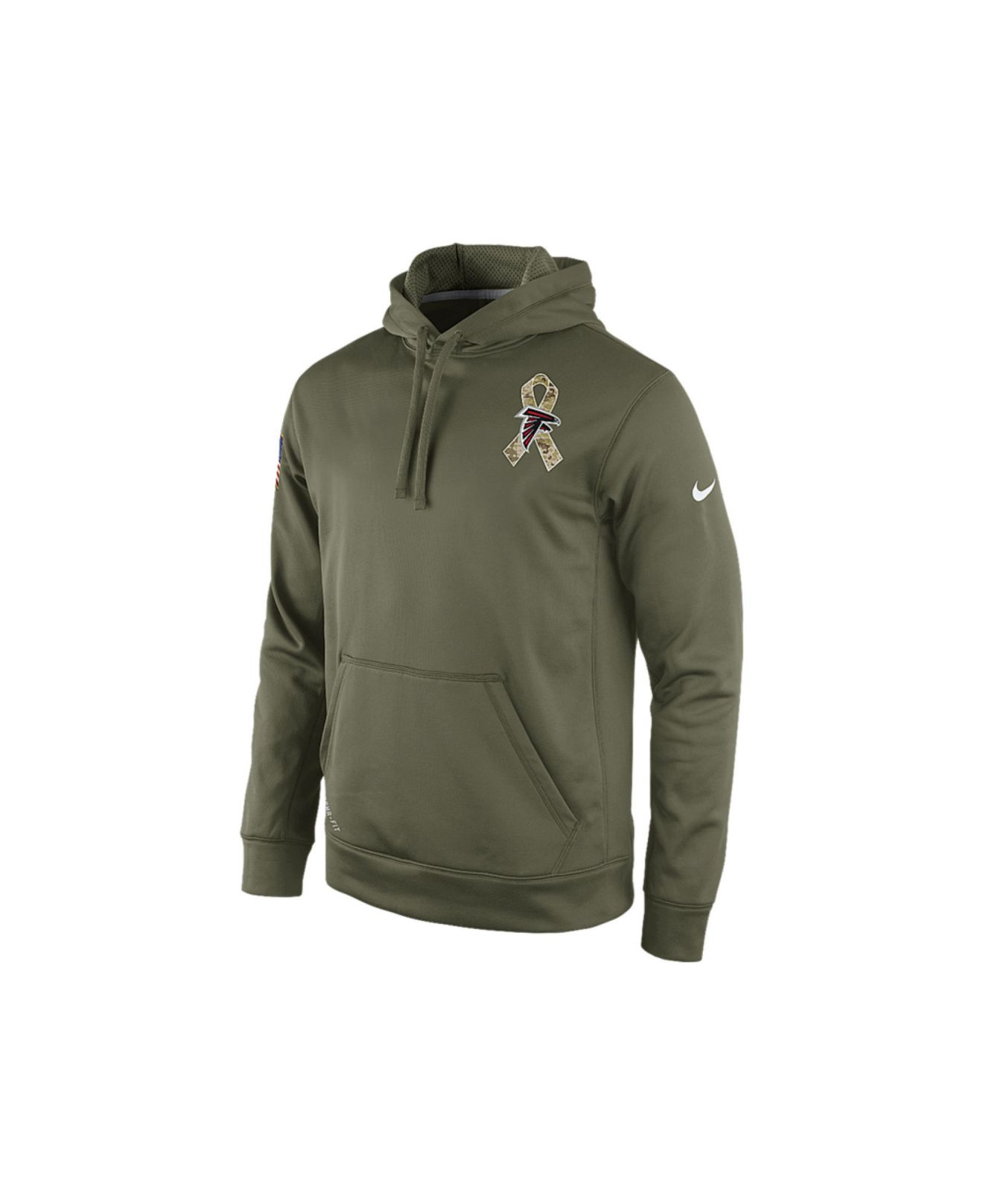 Discount Men's Atlanta Falcons Nike Olive Salute To Service KO Performance Hoodie  hot sale