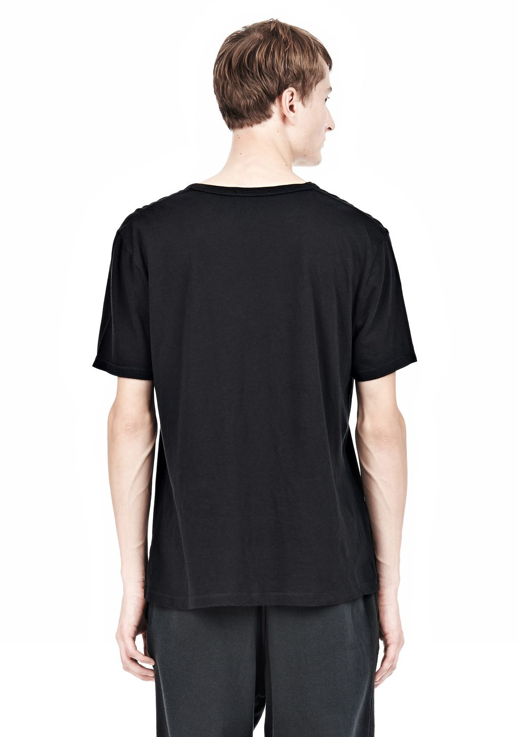 Alexander Wang Classic Low Neck Tee In Black For Men Lyst