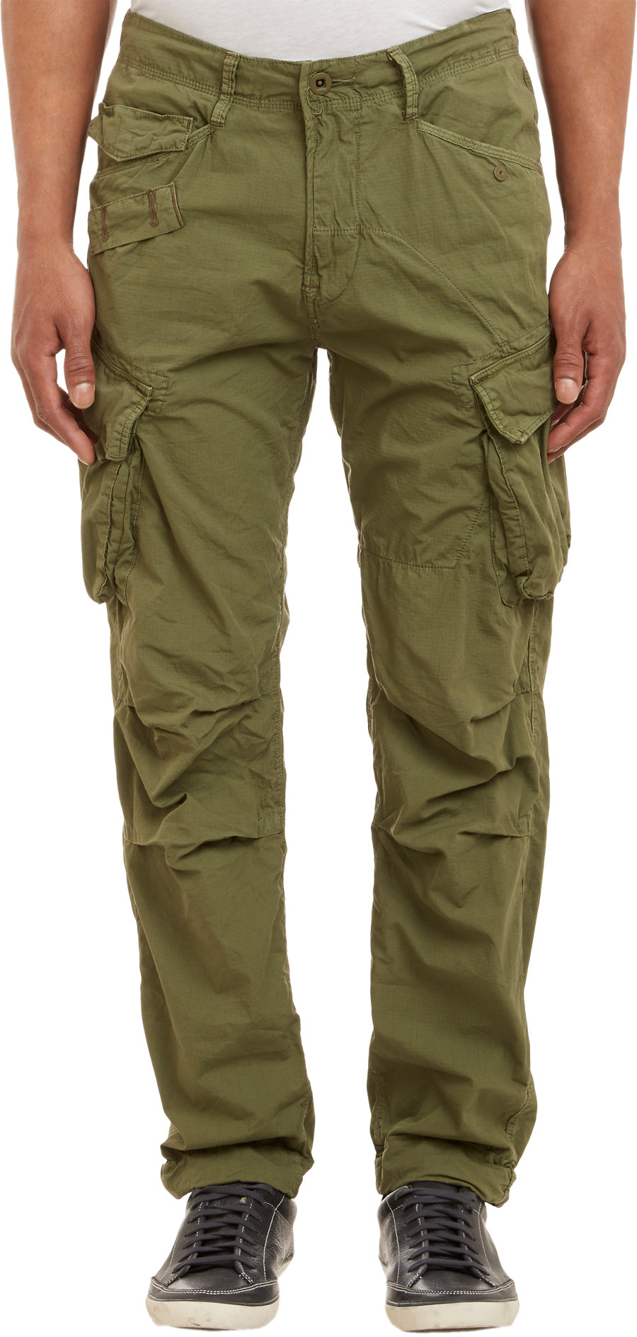 G-star raw Rovic Tapered Cargo Pants Olive in Green for Men | Lyst
