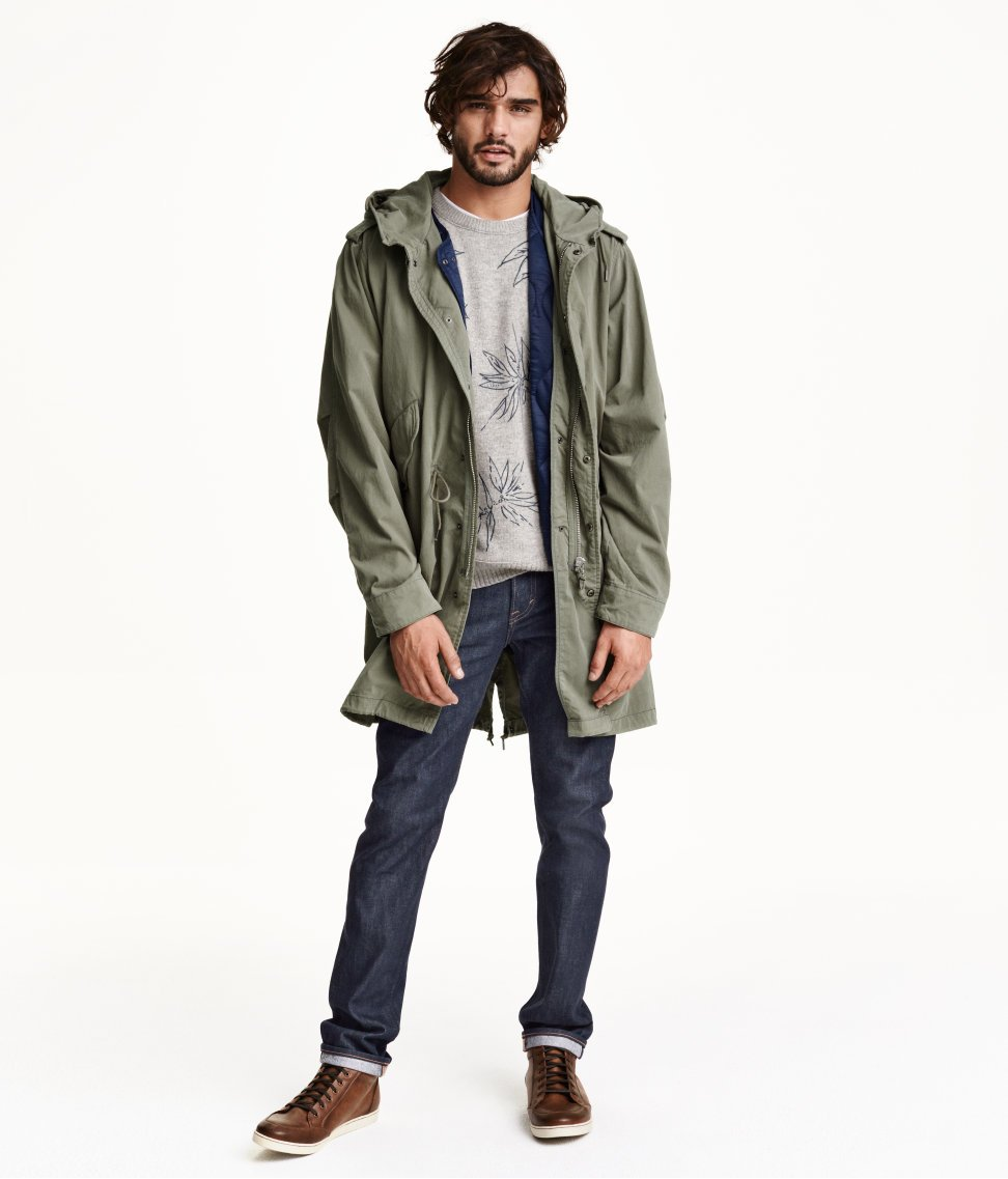 H&m Parka With A Waistcoat in Natural for Men | Lyst
