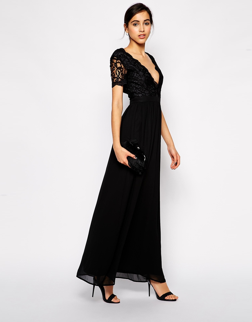 Scallop lace maxi dress