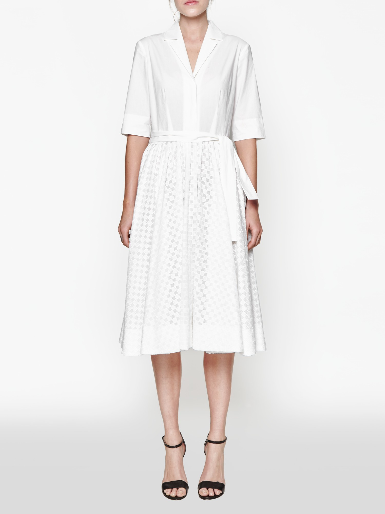 lyst french connection geo flora shirt dress