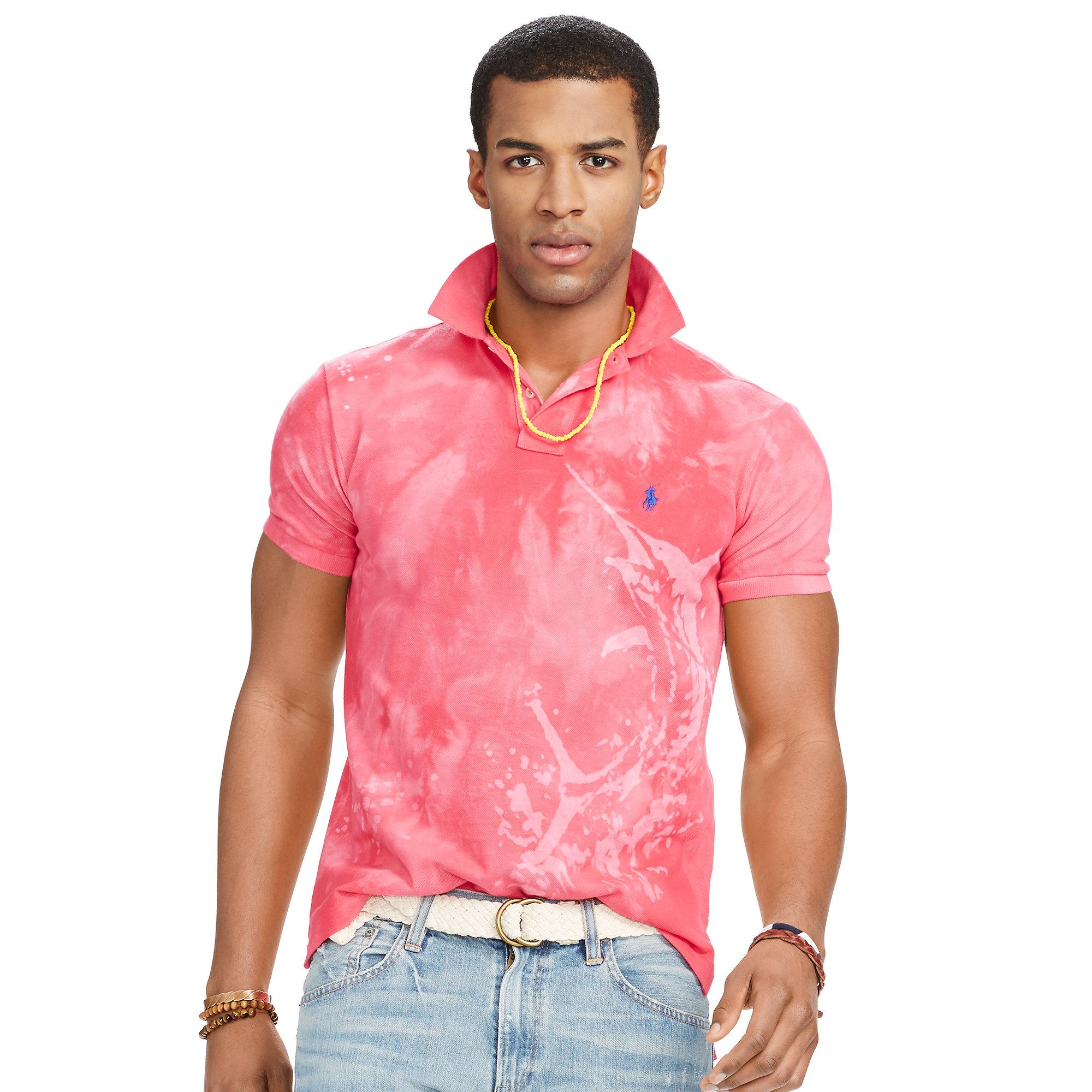 2d605796 Polo Ralph Lauren Marlin Mesh Polo Shirt in Pink for Men - Lyst