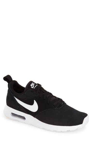 reputable site 99ffd ea381 Nike Air Max Tavas Suede Sneakers in Black for Men - Lyst
