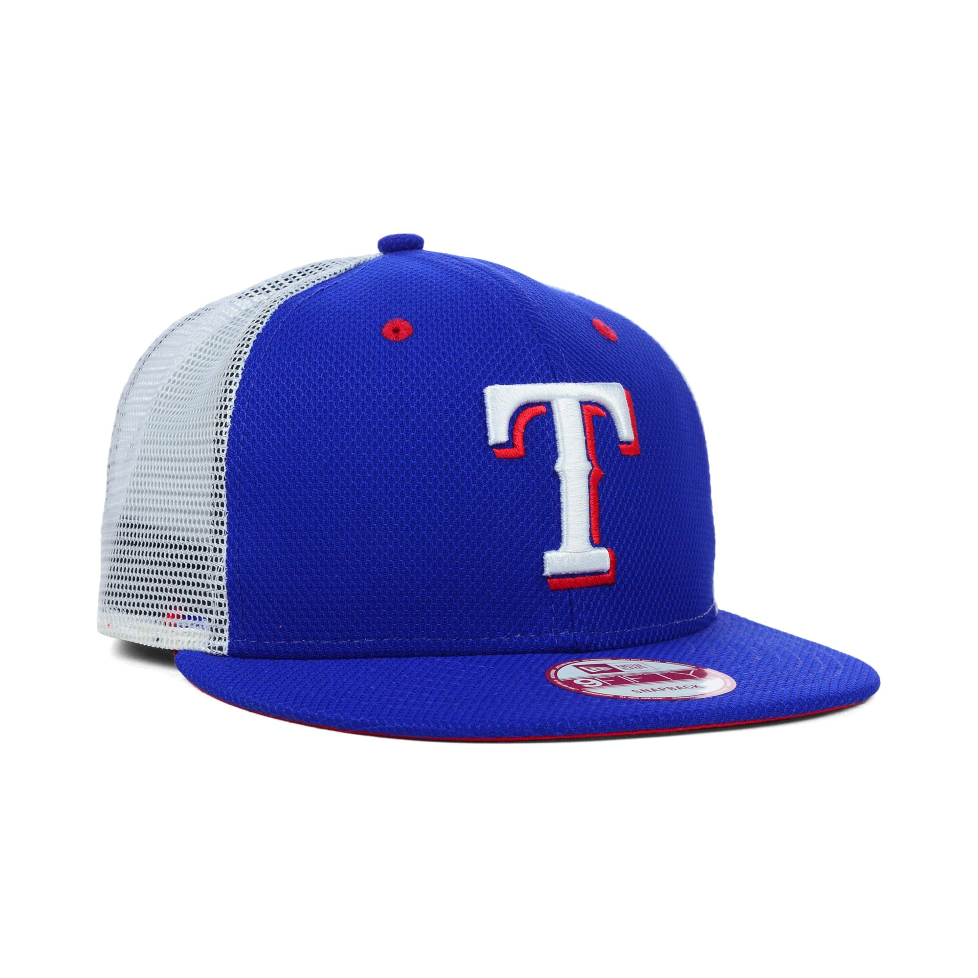 buy popular 9a3f1 be36c ... australia lyst ktz texas rangers mlb diamond mesh 9fifty snapback cap  in c0888 0ac68