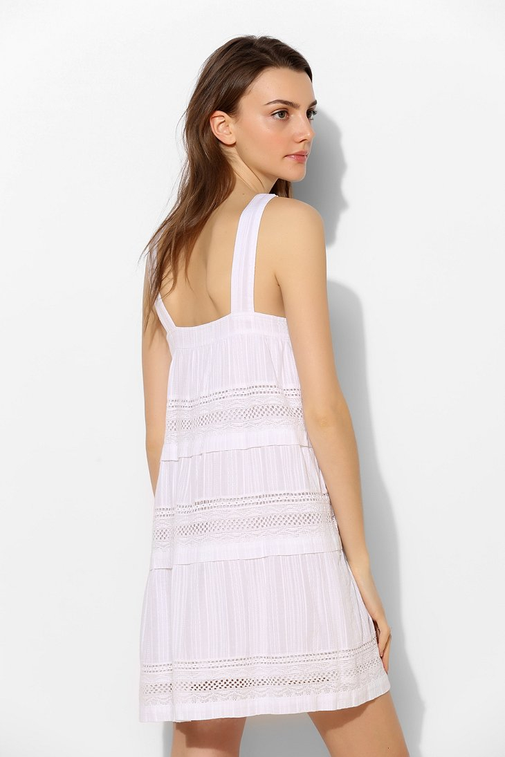 cd62dff0a7 Lyst - d.RA Shanna Tiered Eyelet Sundress in White