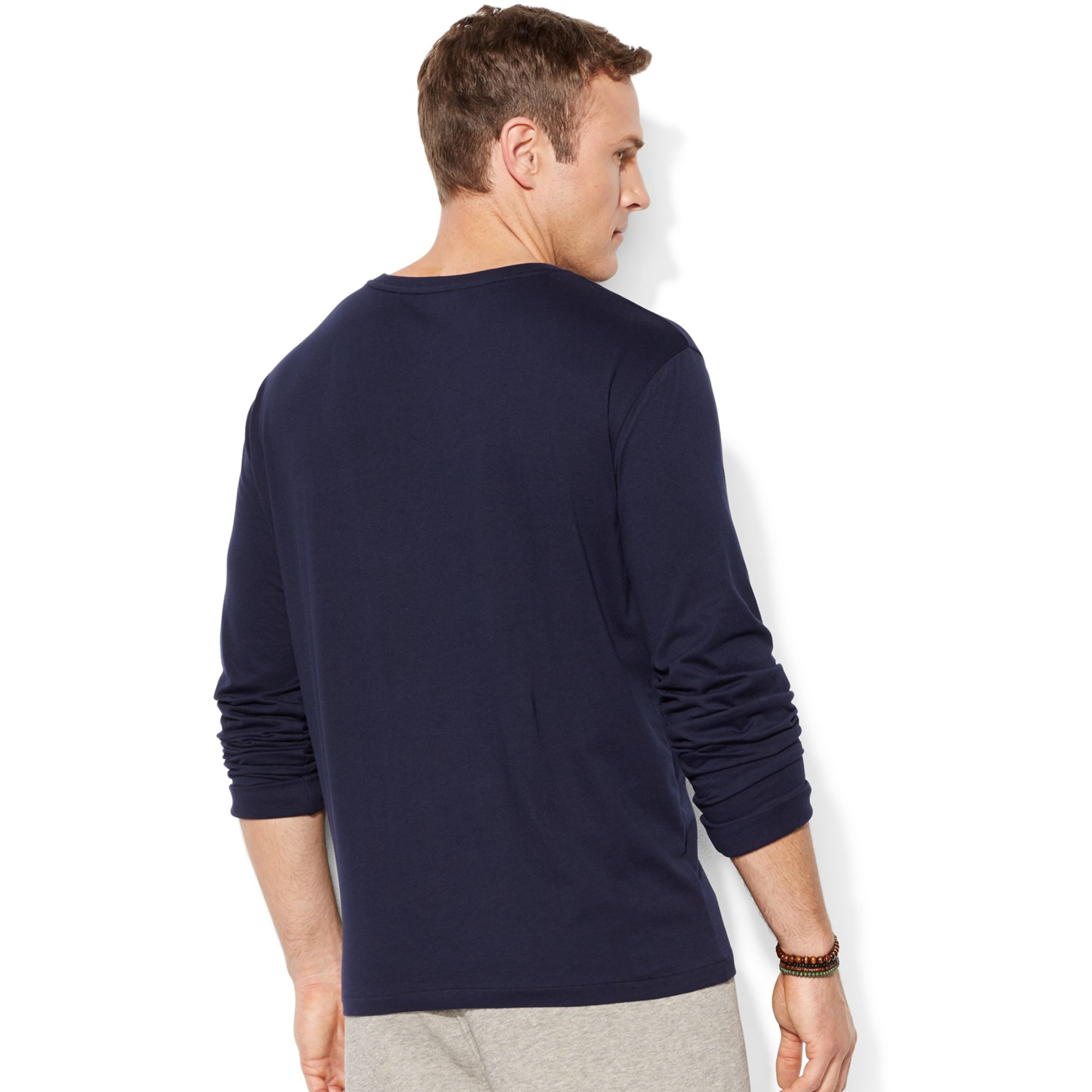 Polo Ralph Lauren Big And Tall Long Sleeve V Neck T Shirt