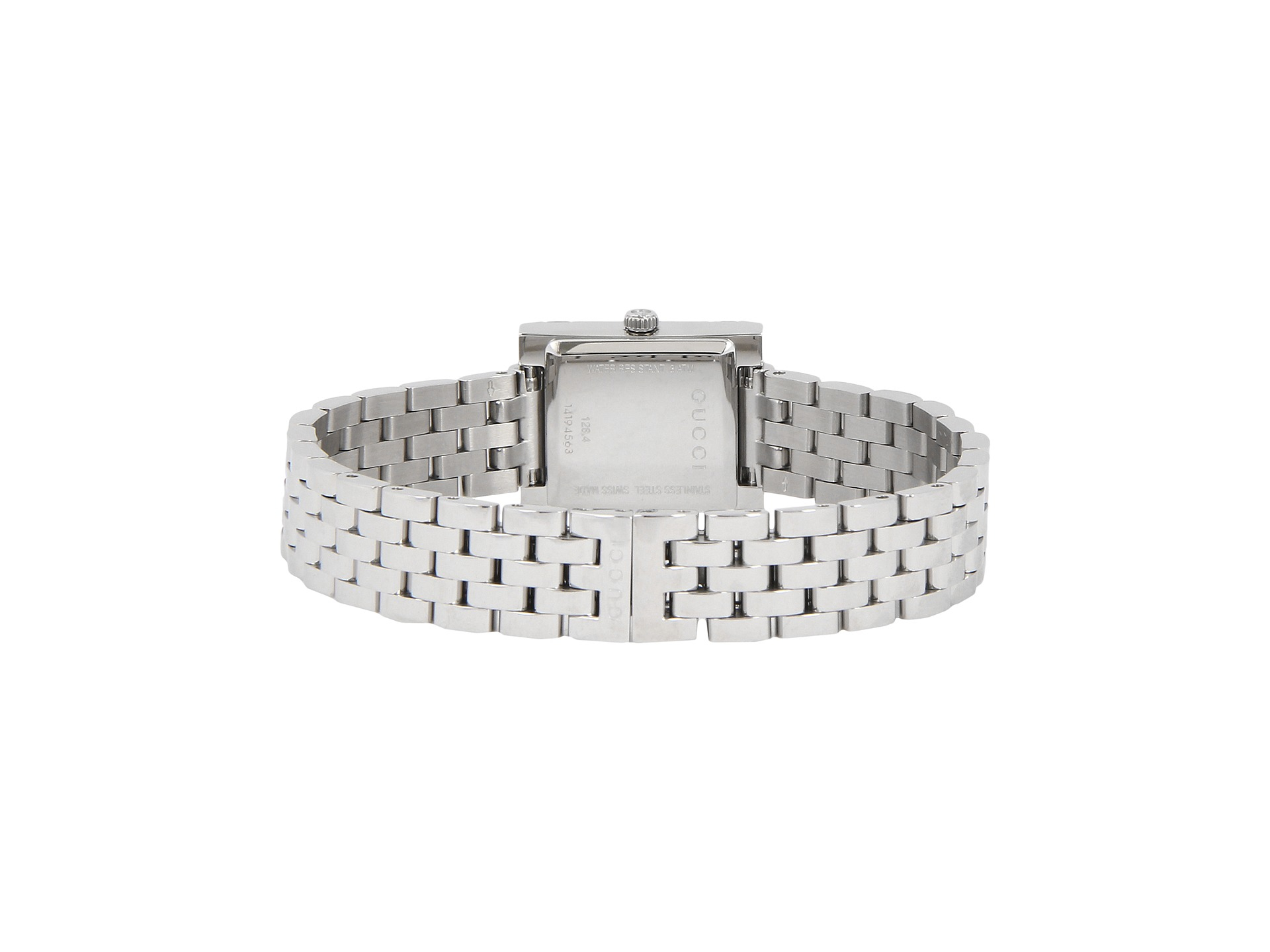 aeb323ab3c6 Lyst - Gucci G-frame 19mm Stainless Steel Watch With Diamonds-ya128401