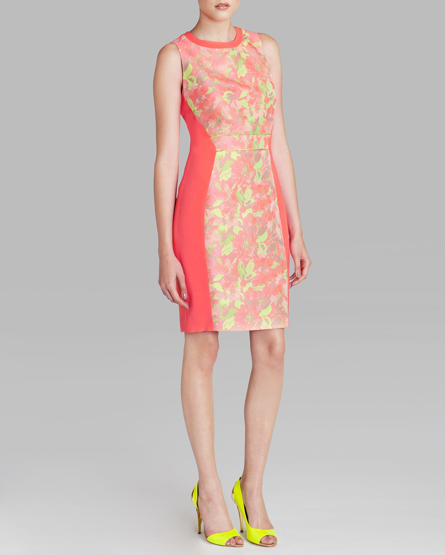 Ted Baker Dress Abenony Sleeveless Jacquard In Pink