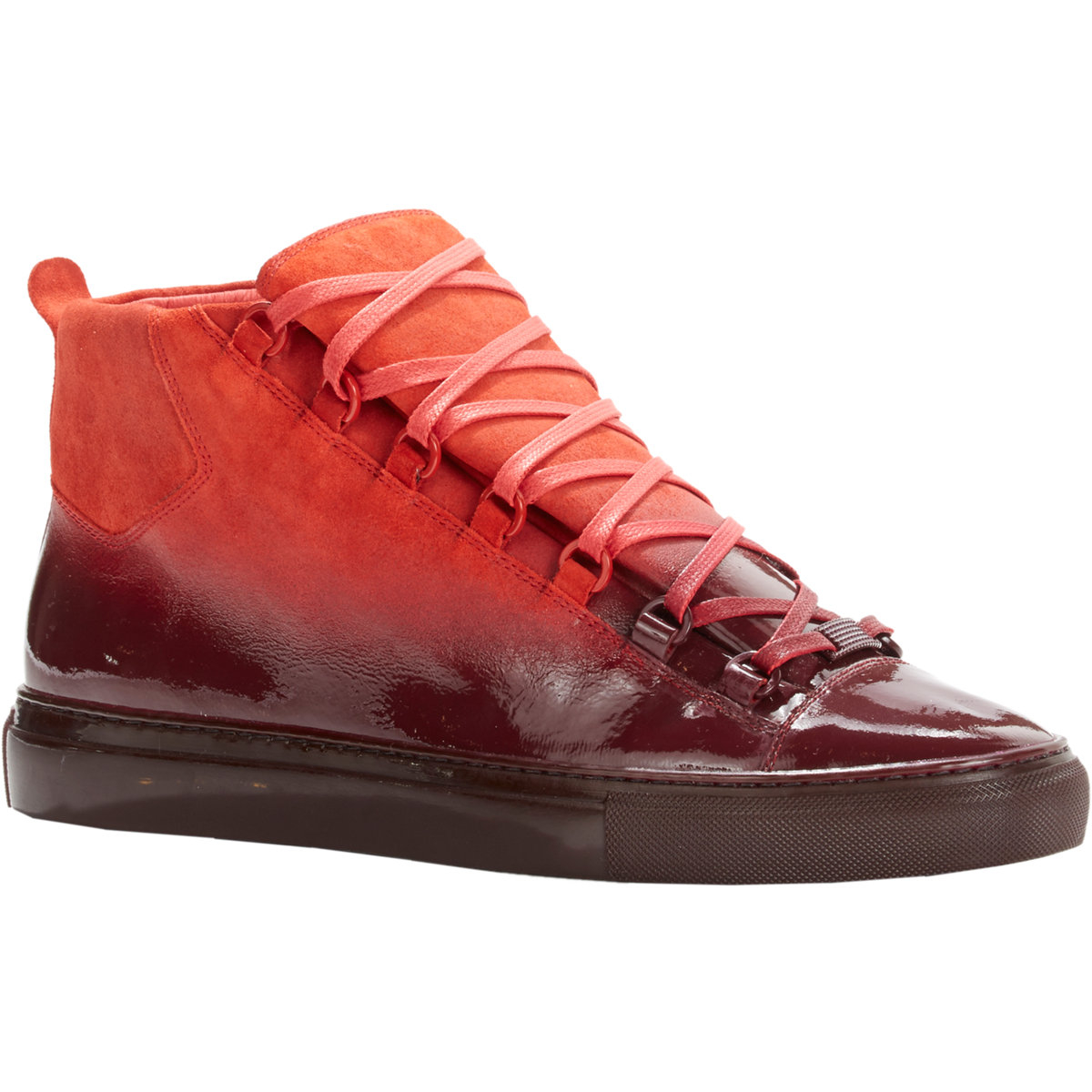 Rubber Rings For Men >> Lyst - Balenciaga Ombré Arena High-Top Sneakers in Red for Men